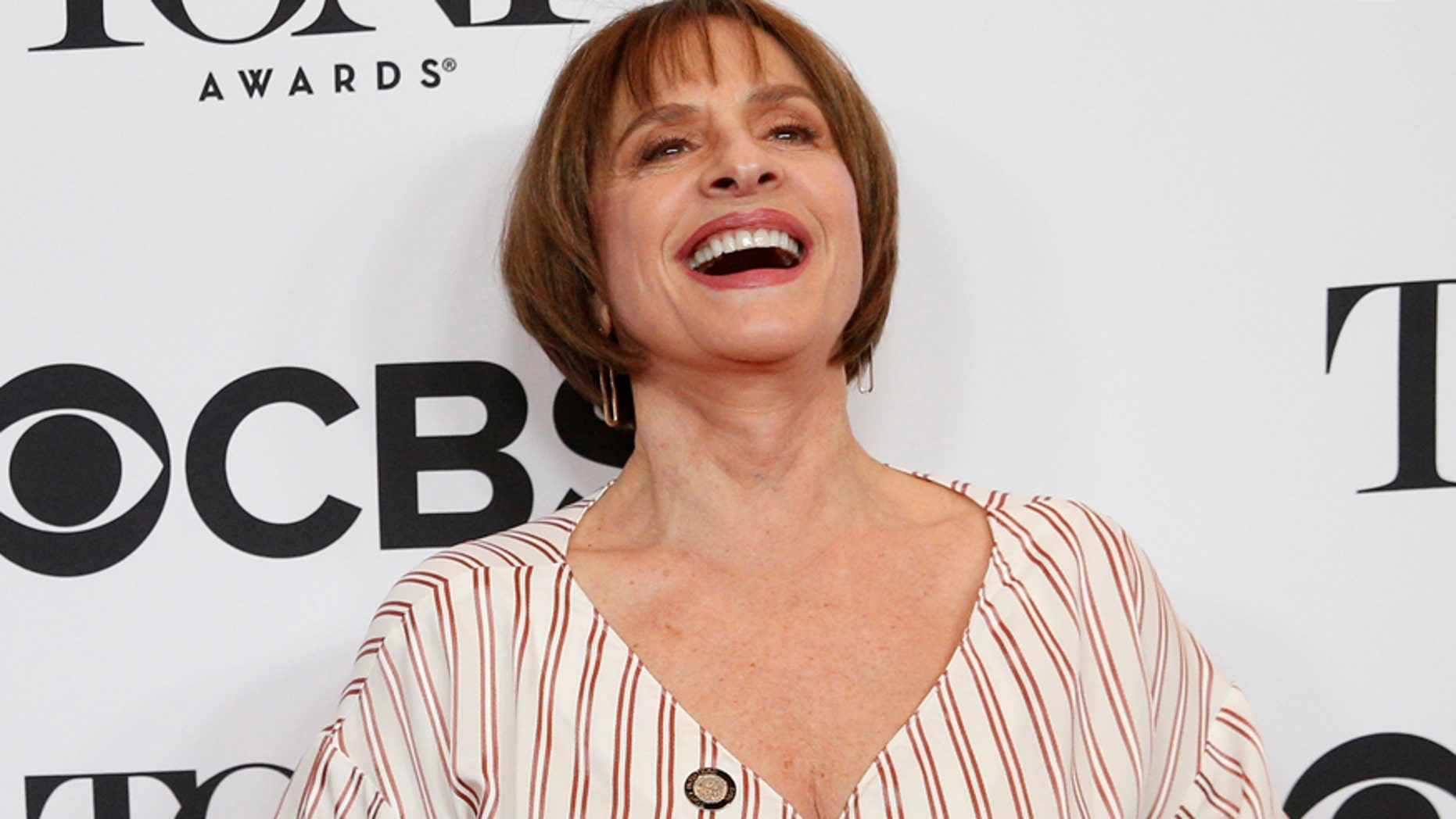 Actor Patti LuPone arrives for the 2017 Tony Awards Meet The Nominees Press Reception in New York, U.S., May 3, 2017.  REUTERS/Brendan McDermid - RTS151WU