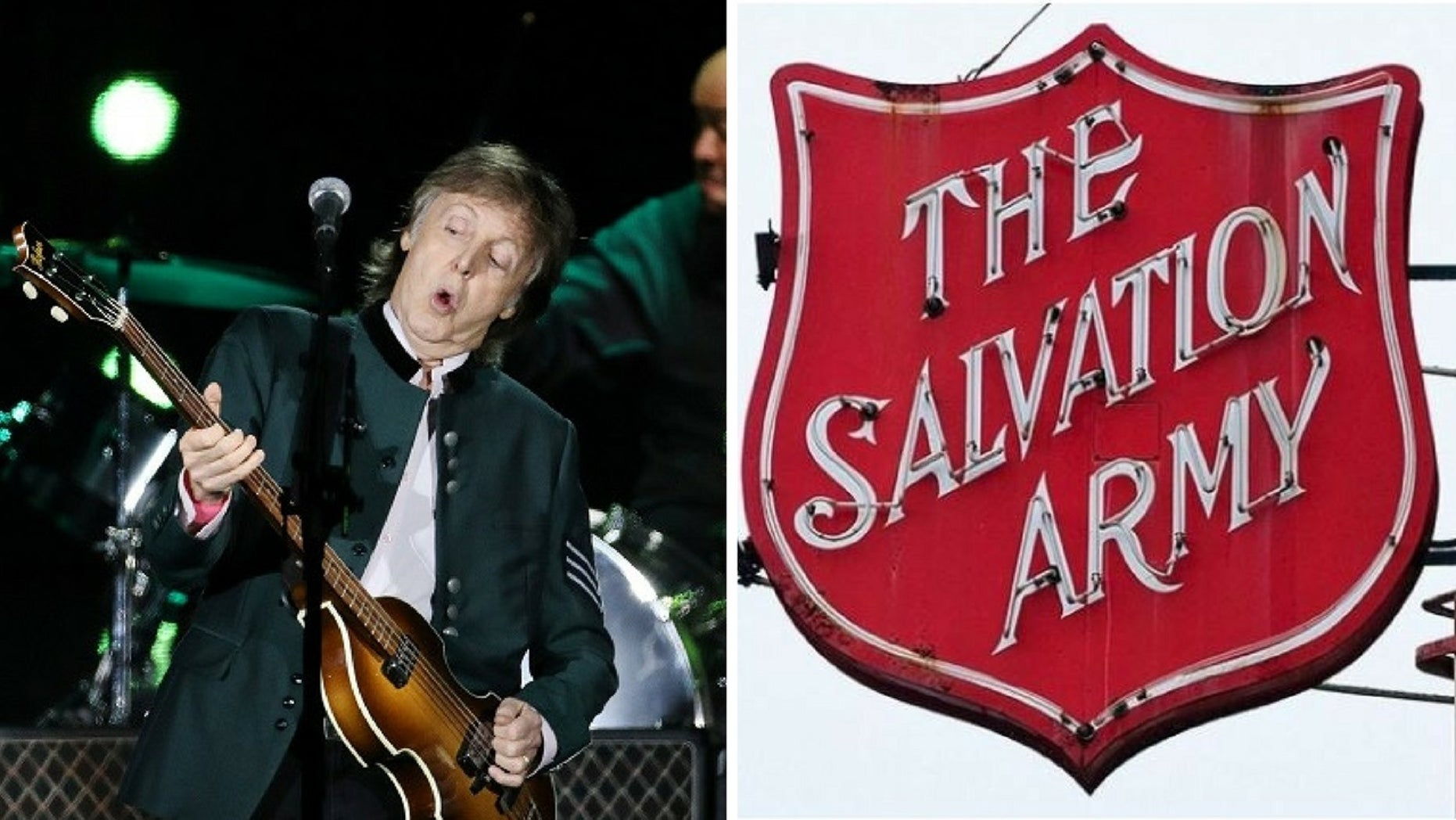 The Australian Salvation Army has come under fire for donated Paul McCartney tickets.