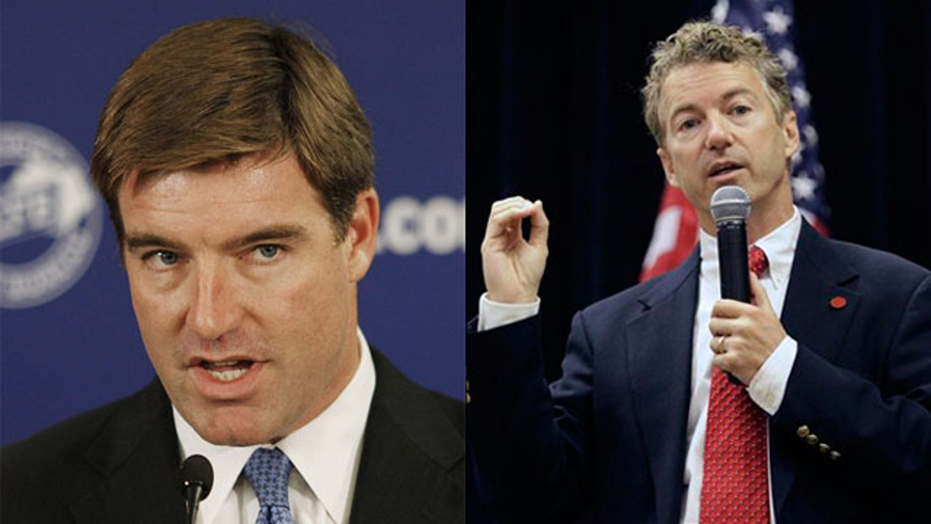 Shown here are Kentucky Senate candidates Jack Conway, left, and Rand Paul. (AP Photos)
