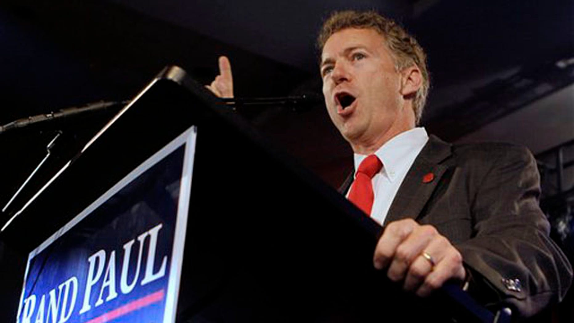 Republican Senate candidate Rand Paul speaks at his victory party in Bowling Green, Ky., Nov. 2. (AP Photo)