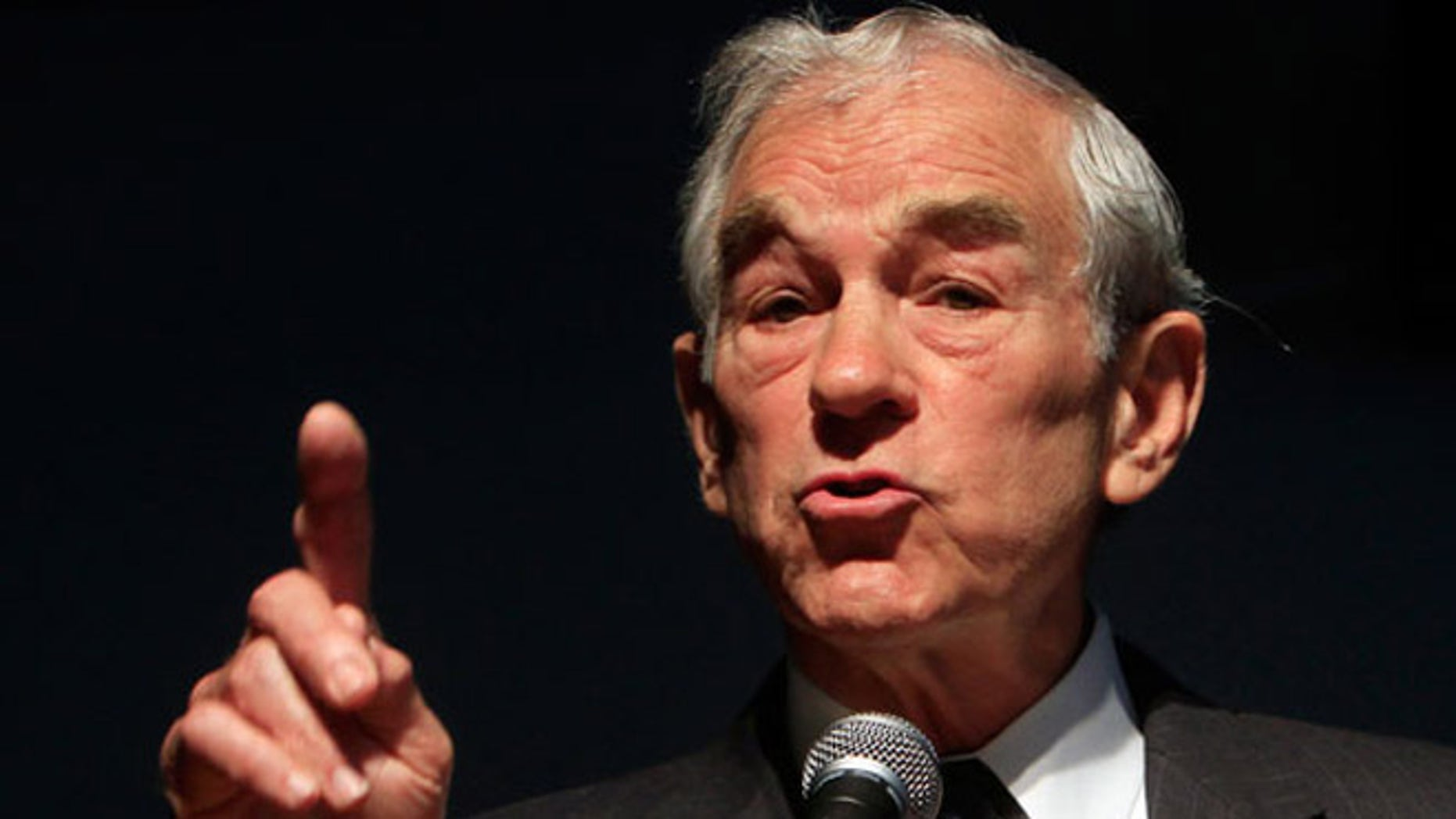 Shown here is retiring Texas Rep. Ron Paul.