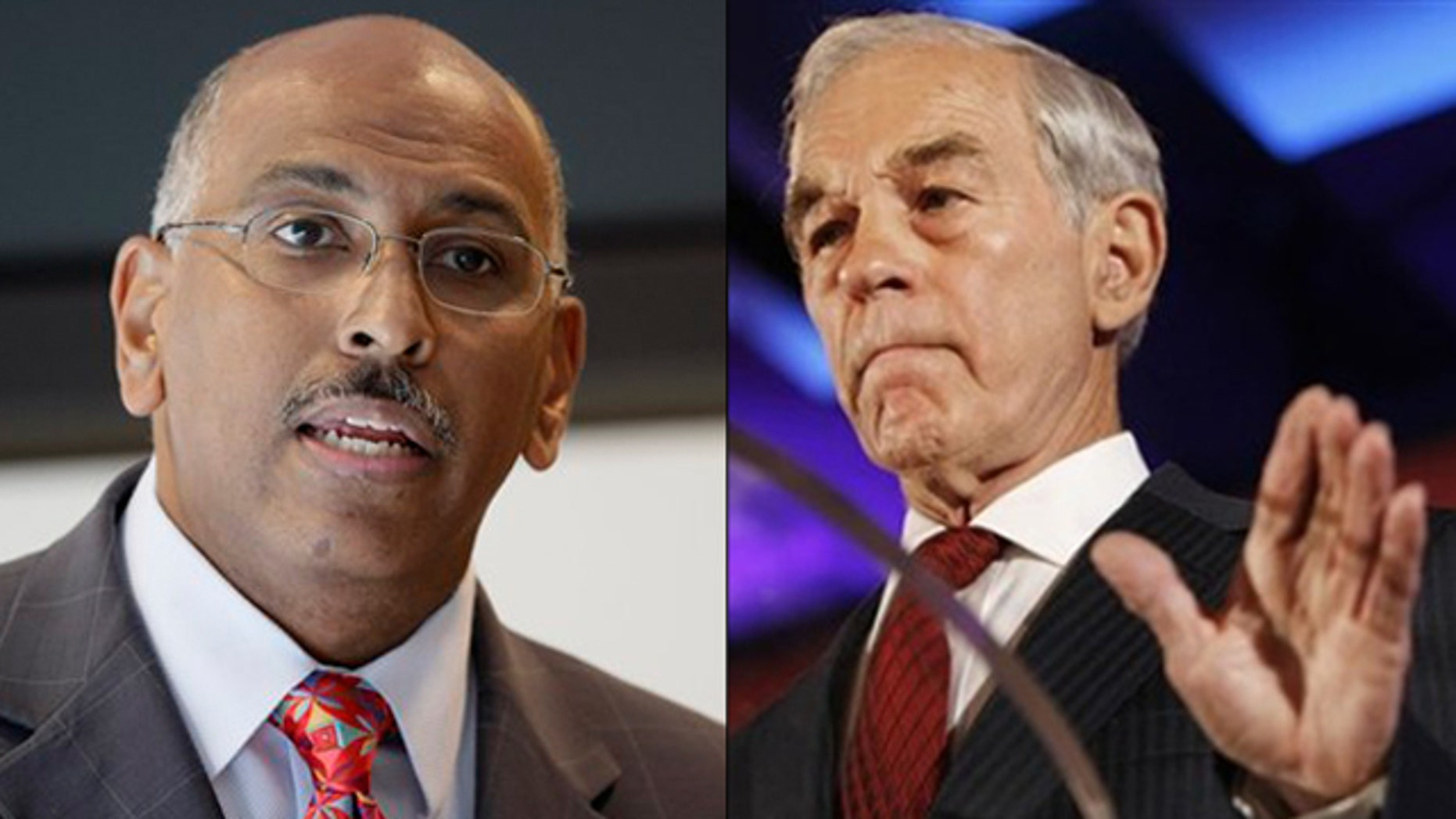 Shown here are RNC Chairman Michael Steele, left, and Rep. Ron Paul. (AP Photos)