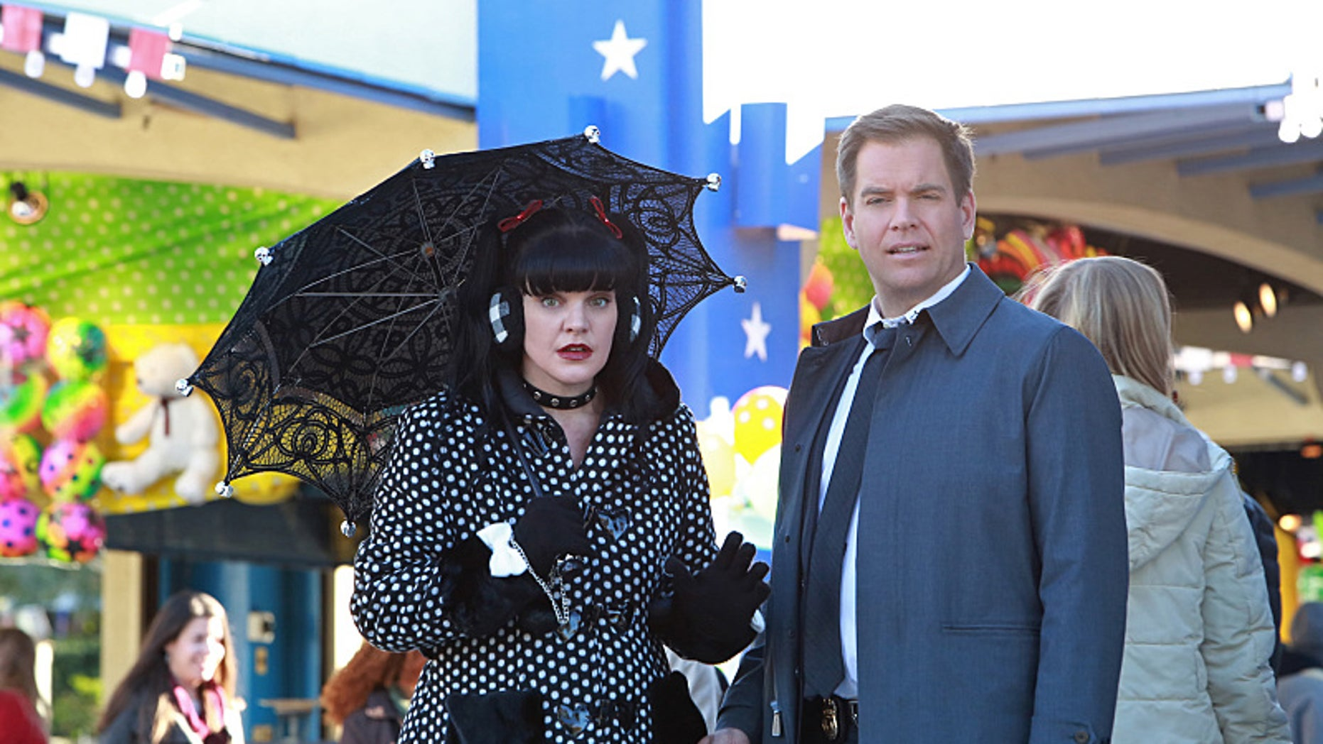 Pictured left to right: Pauley Perrette and Michael Weatherly