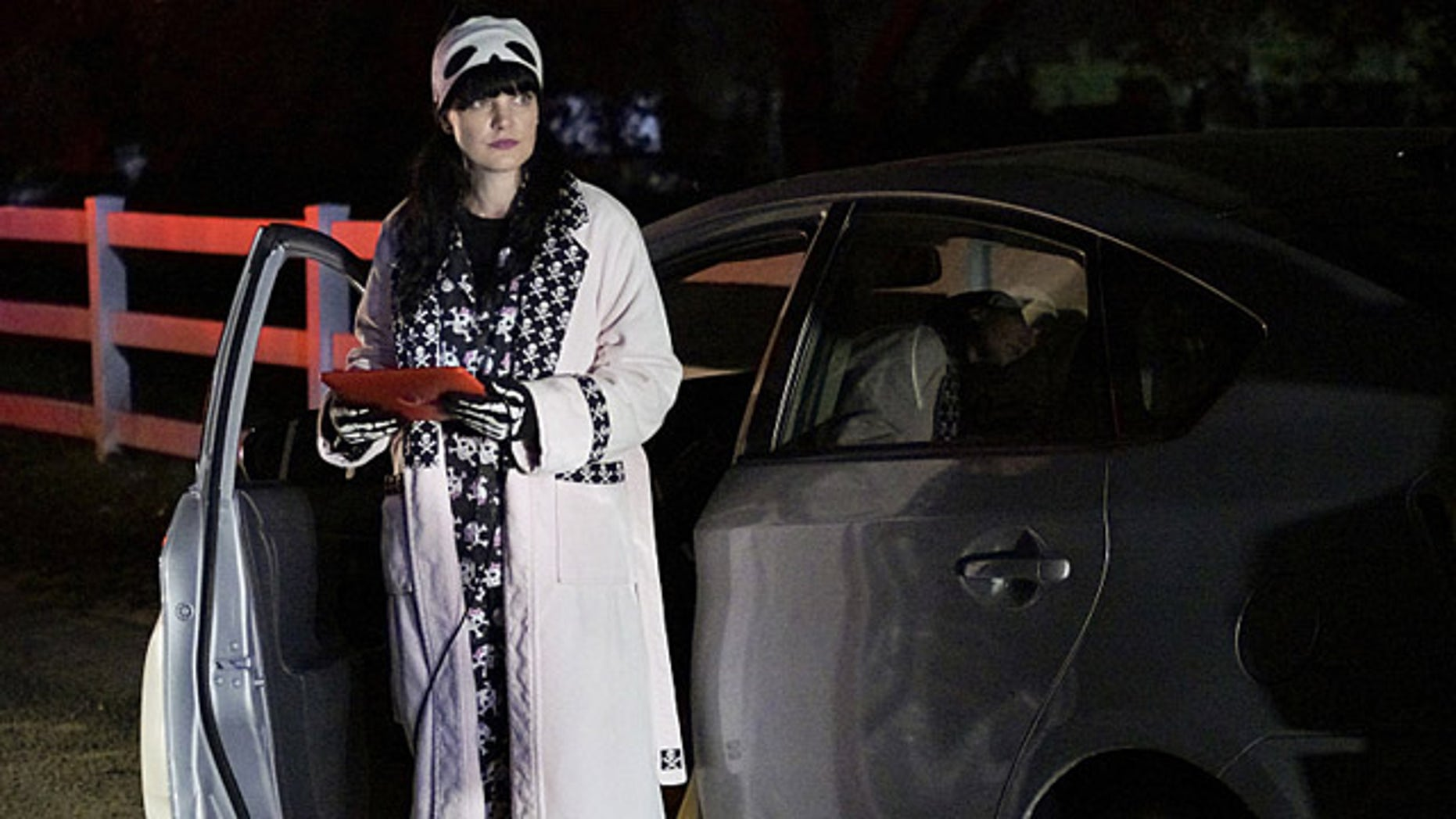 Abby (Pauley Perrette) works in her pajamas on the 'After Hours' episode of 'NCIS' (Jace Downs/CBS)