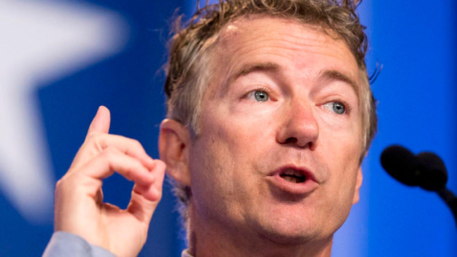 Sept. 26, 2014: Sen. Rand Paul, R-Ky. speaks in Washington. (AP)