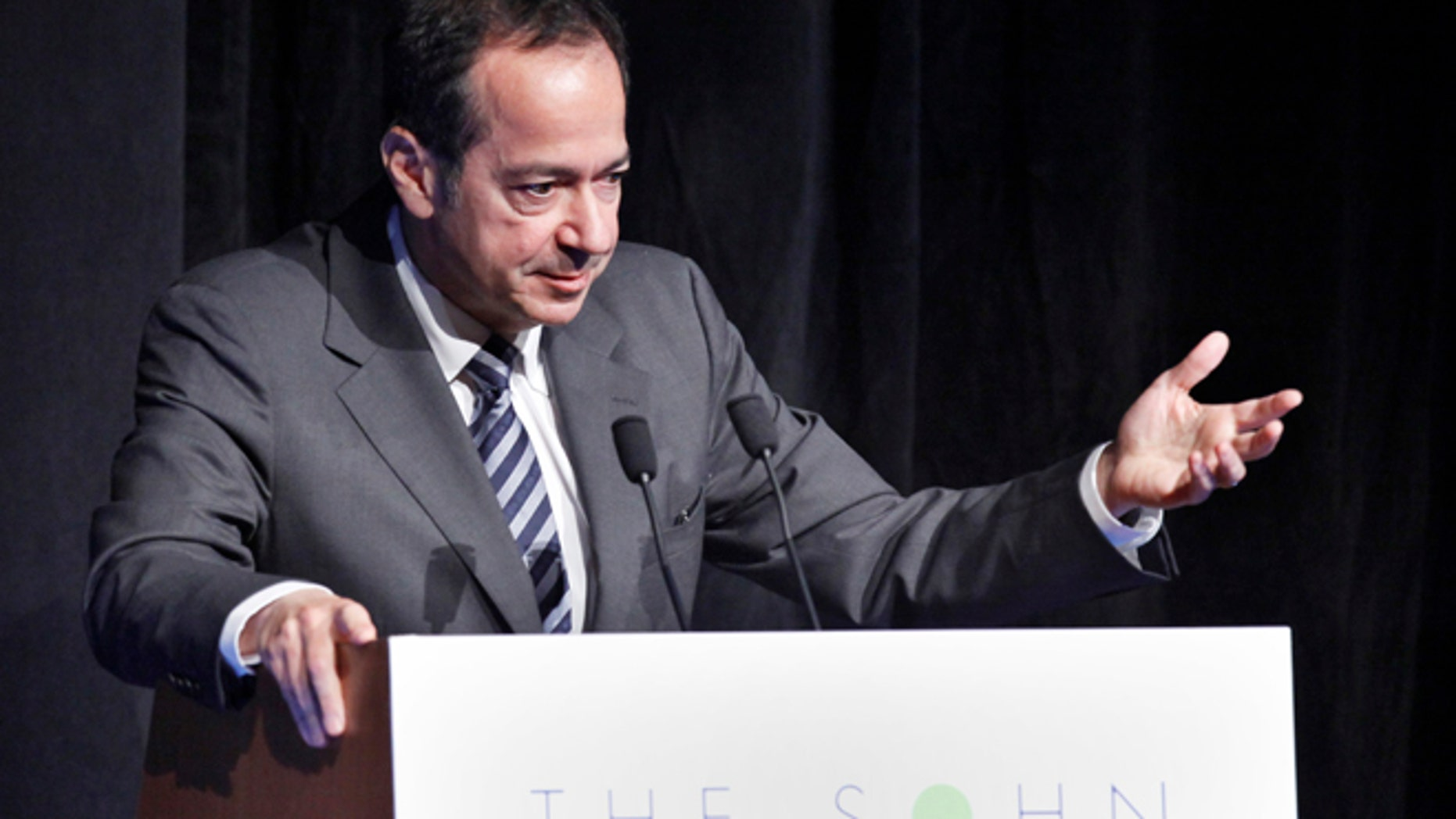 FILE 2012: President and Portfolio Manager of Paulson & Co. John Paulson speaks during the Sohn Investment Conference in New York.