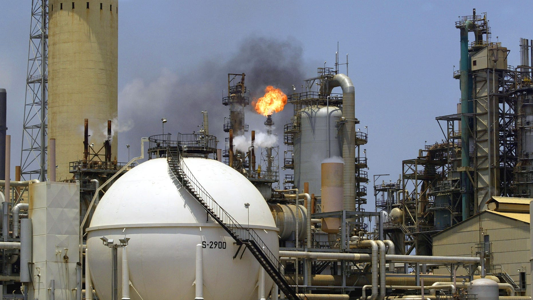 Oil refinery complex of Amuay-Cardon in Paraguana, located about 350 miles West of Caracas, Venezuela.