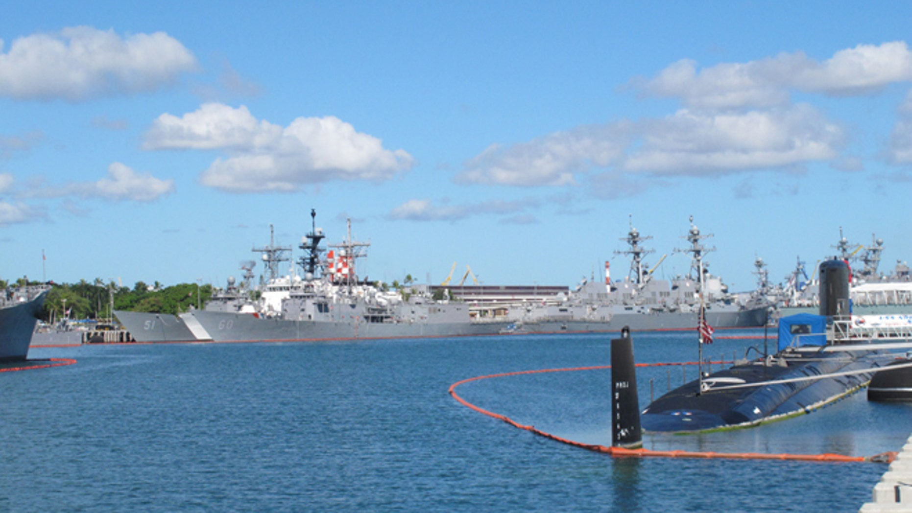 June 30, 2014: Vessels sit docked at Pearl Harbor, Hawaii, during the the Rim of the Pacific naval exercises.