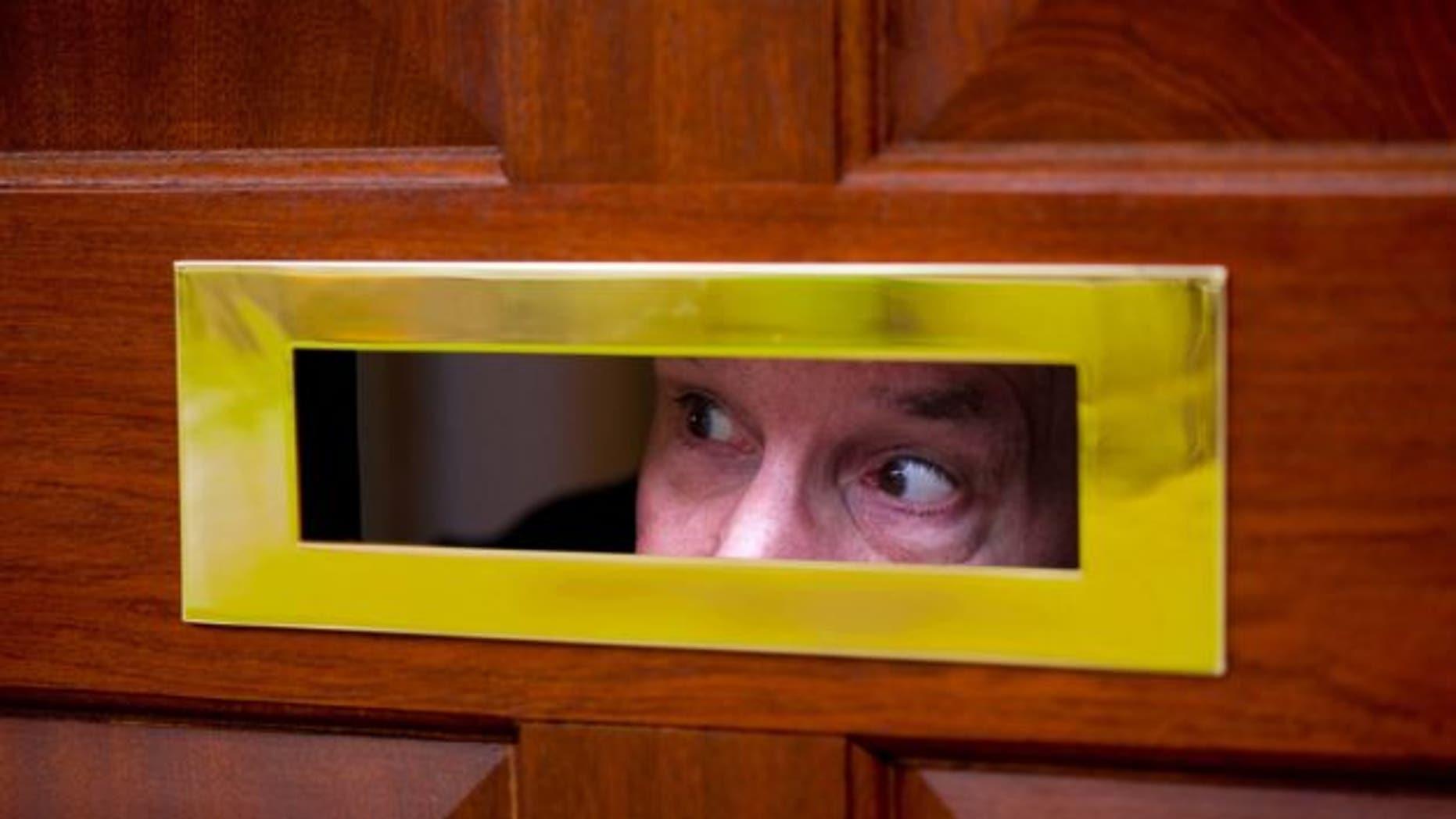 peeking-through-door