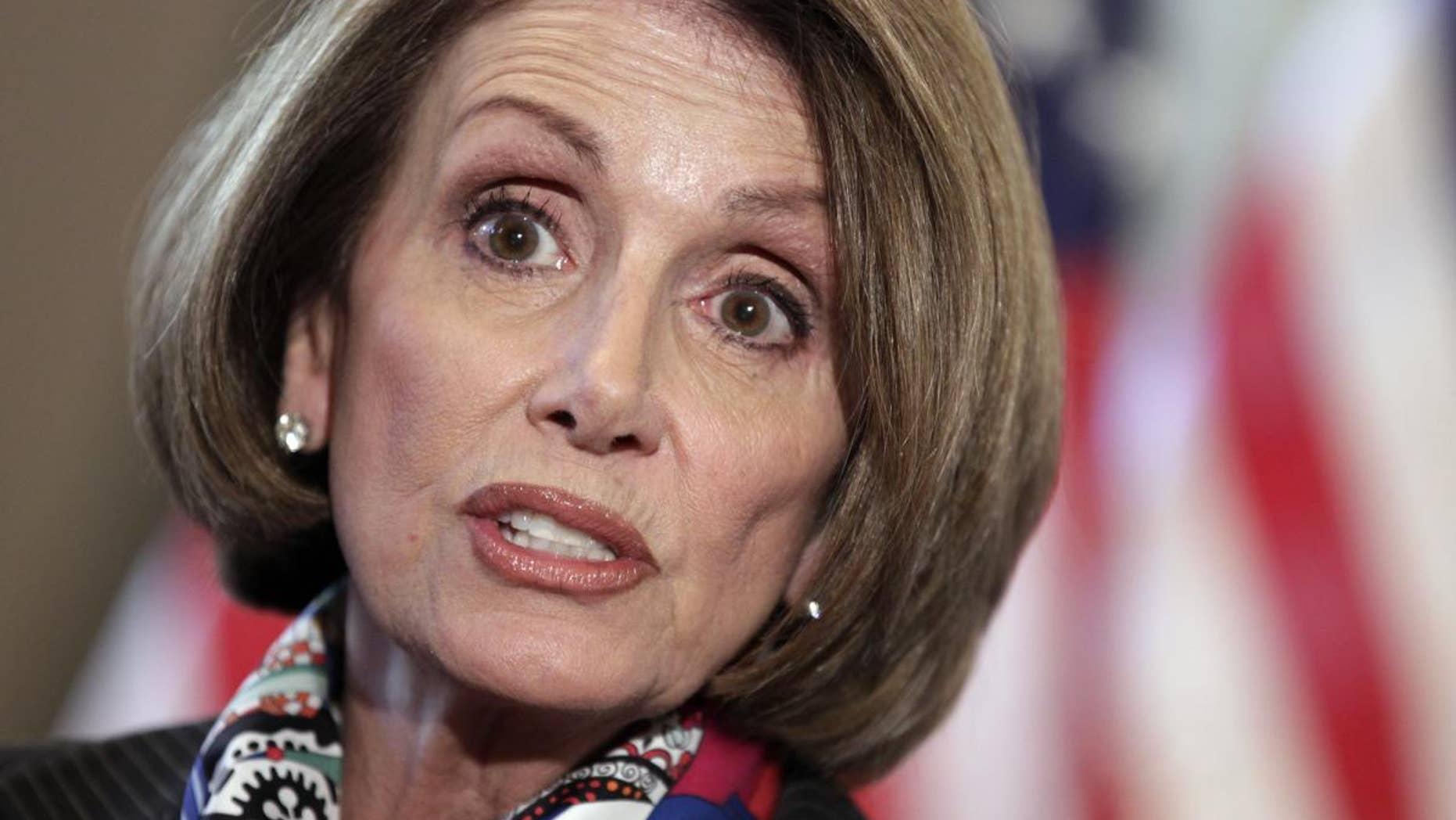 House Minority Leader Nancy Pelosi, D-Calif. (AP Photo/J. Scott Applewhite)