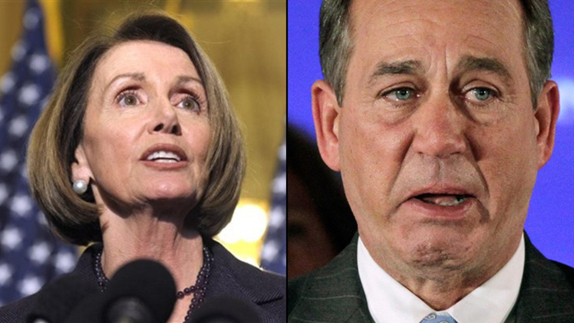 Outgoing House Speaker Nancy Pelosi seemed to belittle incoming Speaker John Boehner's penchant for crying. (AP)