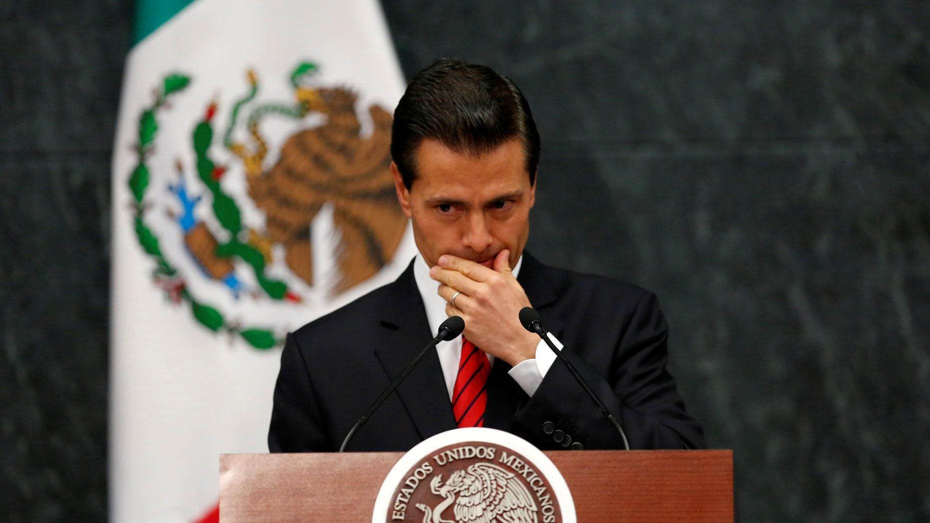 Mexico's President Enrique Pena Nieto on November 9, 2016.
