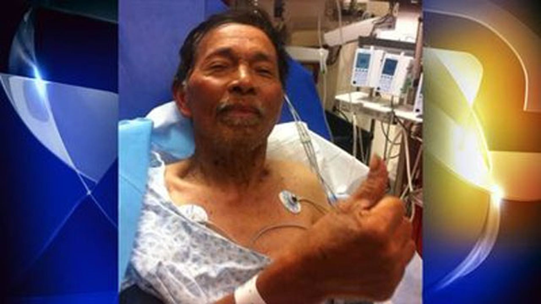 Gene Penaflor recovering in hospital (Photo courtesy Jeremy Penaflor/KTVU)