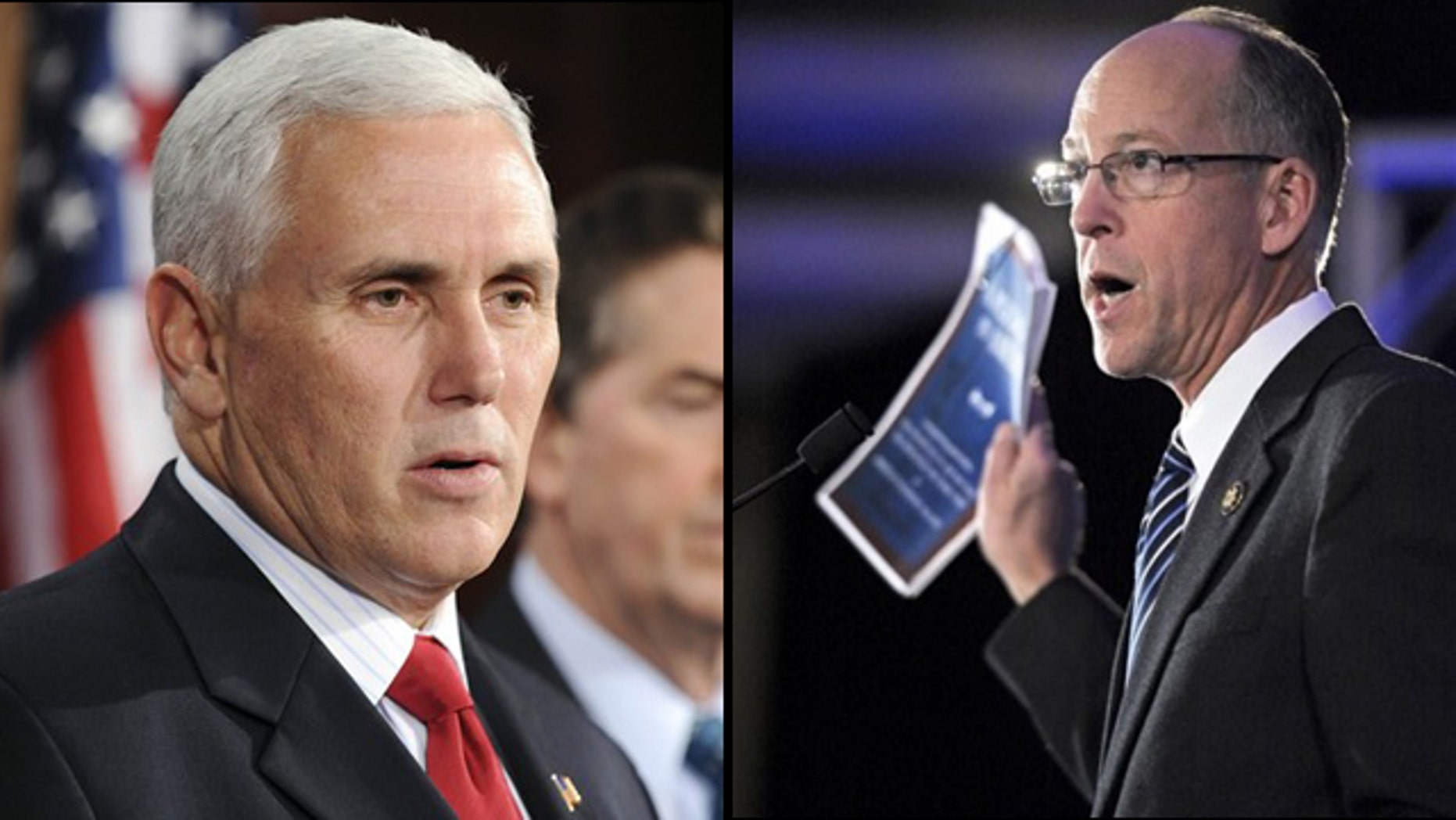 Reps. Mike Pence of Indiana and Greg Walden of Oregon unveiled this week the Broadcaster Freedom Act, which would ban the FCC from forcing broadcasters to give free airtime to opposing sides on controversial issues. (Reuters/AP)
