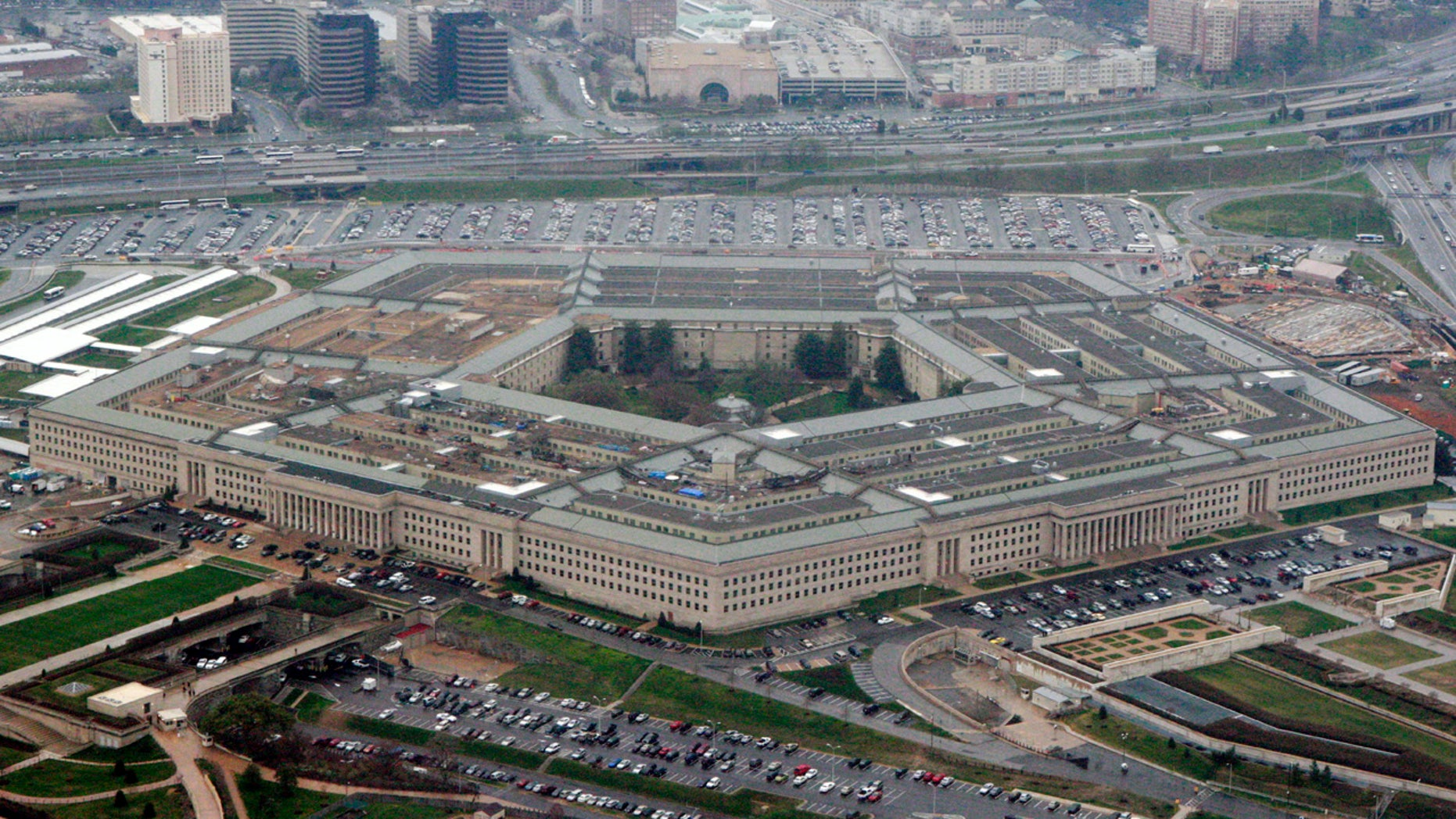 The U.S. Department of Defense is seen above.