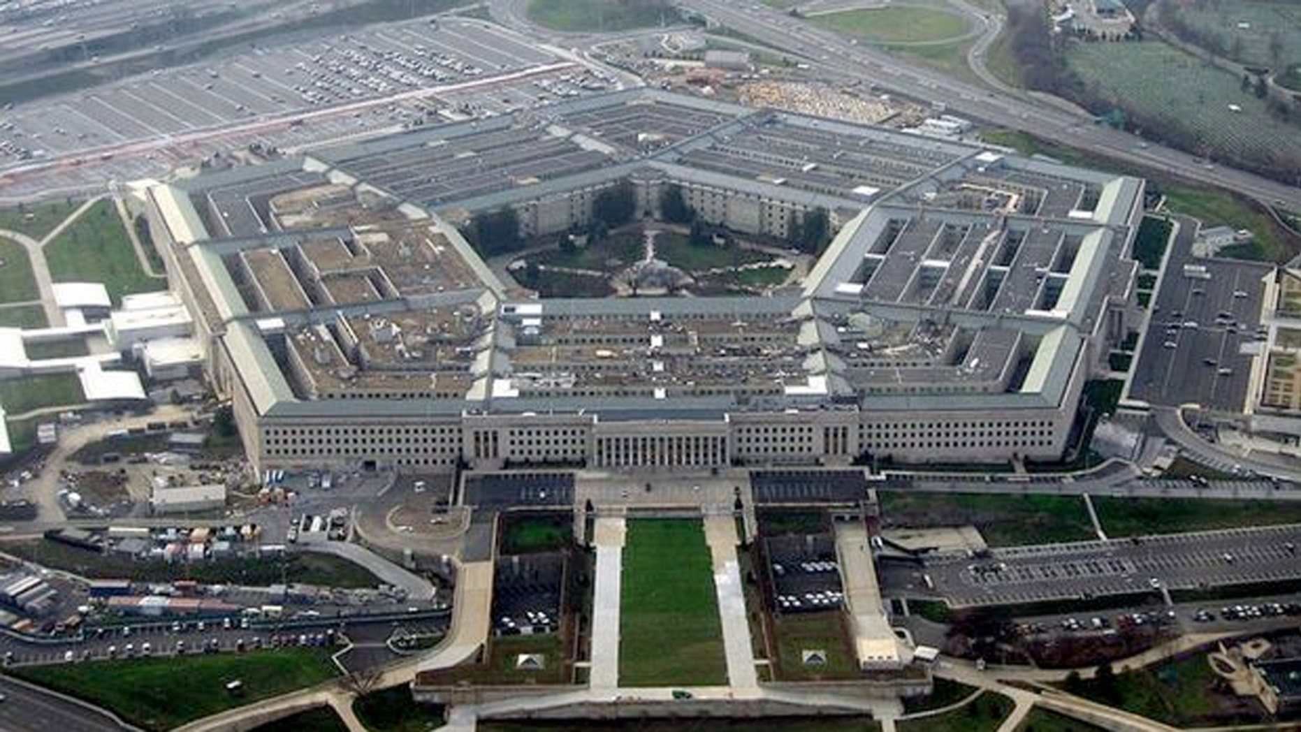 The Pentagon in Arlington, Virginia (above) was designed so a person to walk between any two points in the Pentagon in less than seven minutes