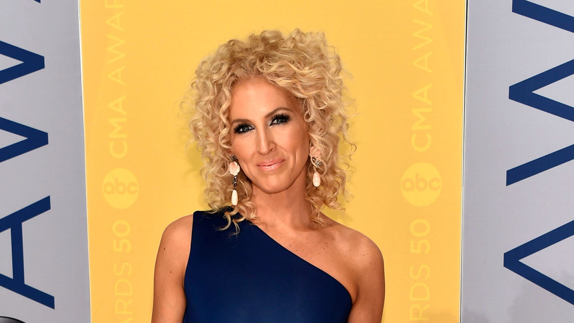 This Nov. 2, 2016 file photo shows Kimberly Schlapman of Little Big Town at the 50th annual CMA Awards in Nashville, Tenn.