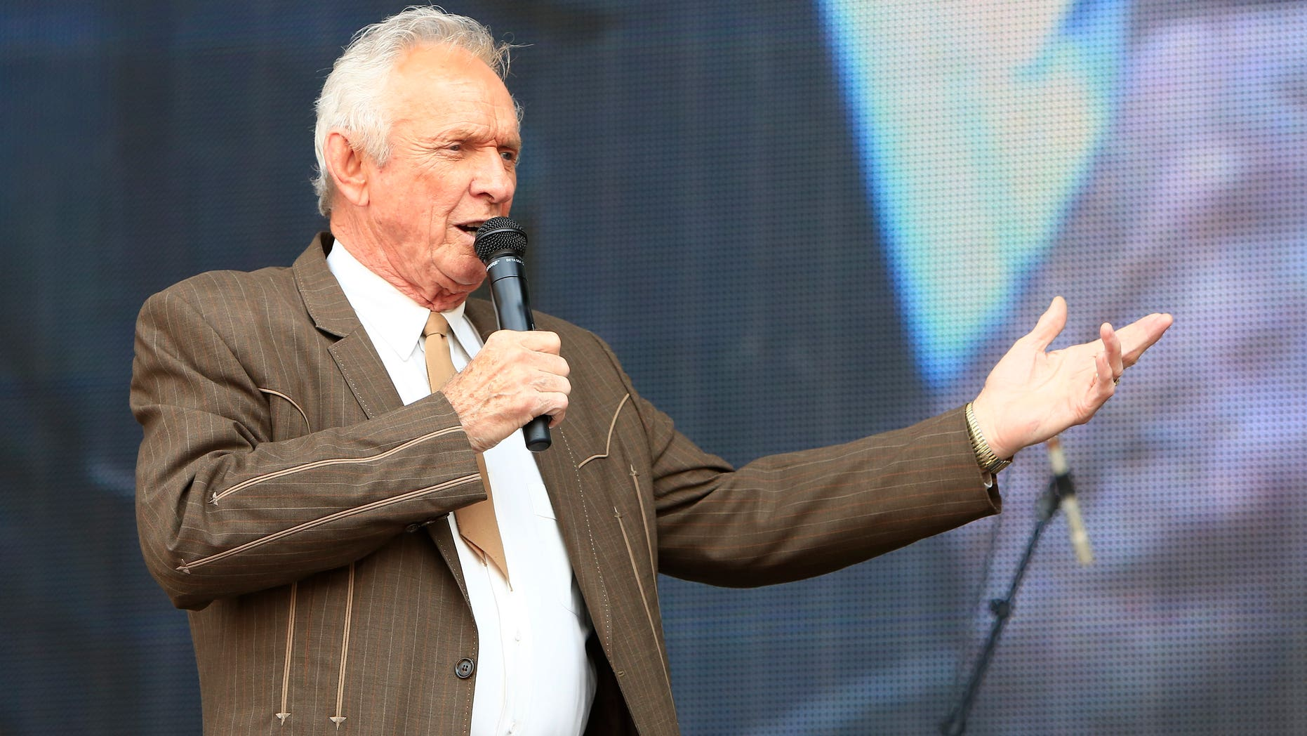 In this July 6, 2013, file photo, Mel Tillis performs at the Oklahoma Twister Relief Concert at the Gaylord Family-Oklahoma Memorial Stadium in Norman, Okla.