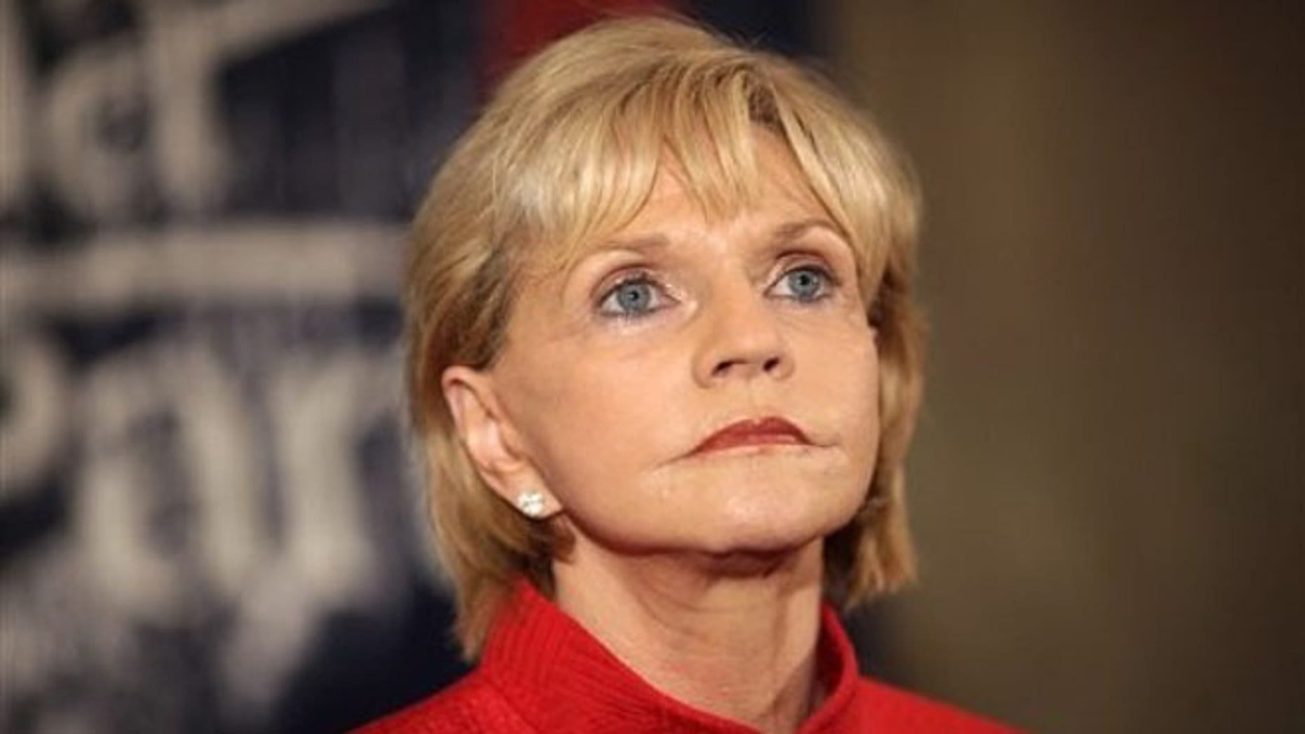 Jan. 28, 2012: North Carolina Gov. Beverly Perdue addresses the media at the Marriott hotel in downtown Greensboro, N.C.