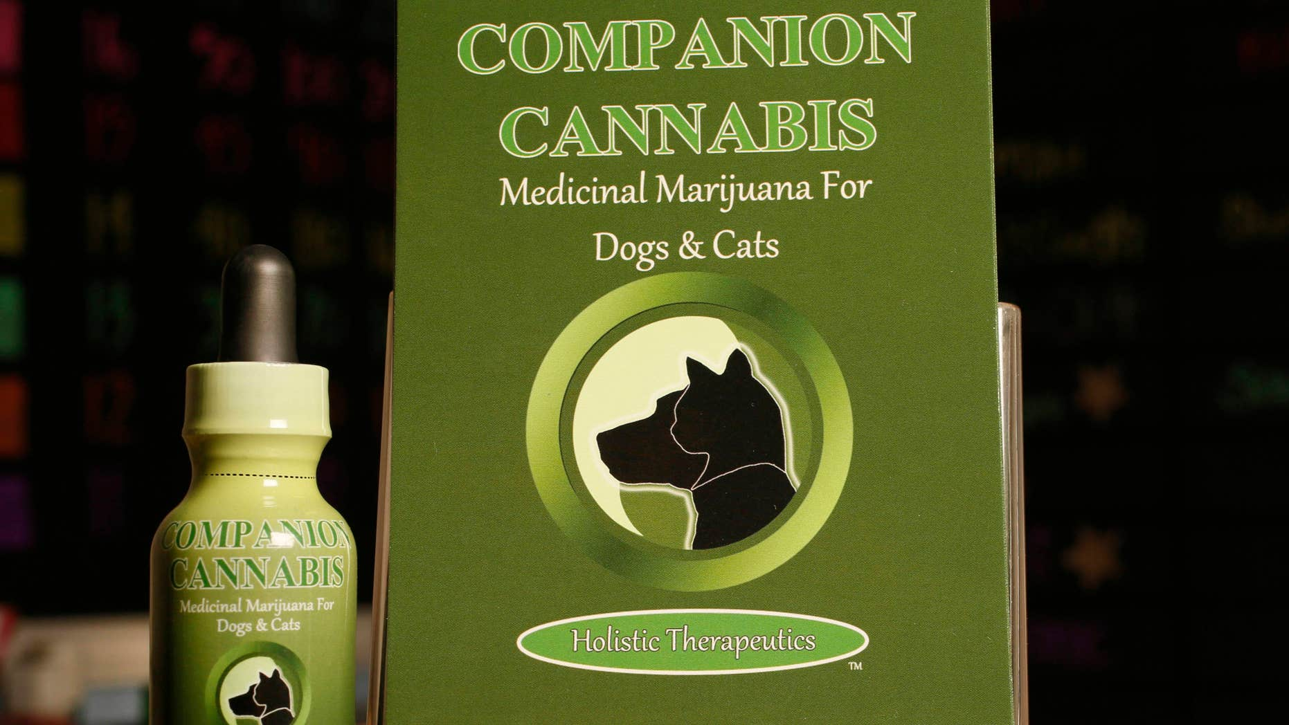 May 30, 2013: A Marijuana medicinal tincture for dogs and cats is displayed at La Brea Compassionate Caregivers, a medical marijuana dispensary in Los Angeles.