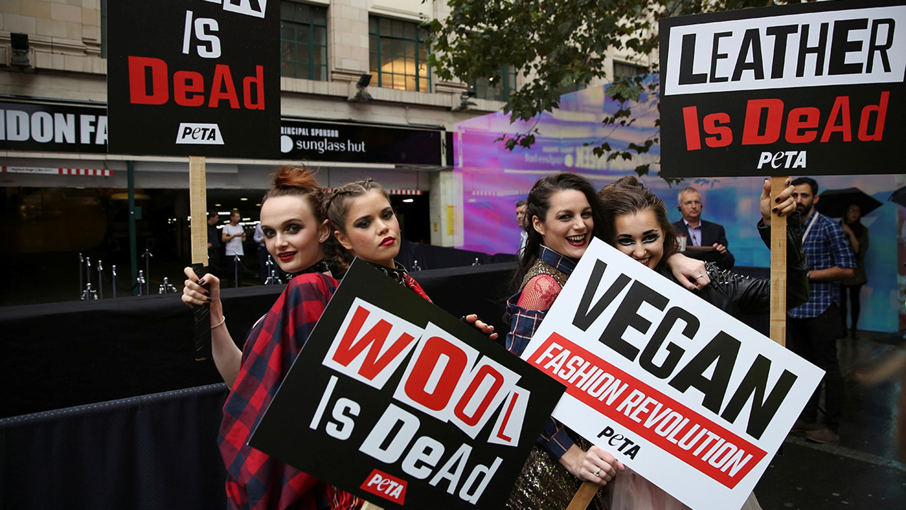 PETA defends their sign that was deemed too graphic to run on the side of London buses.
