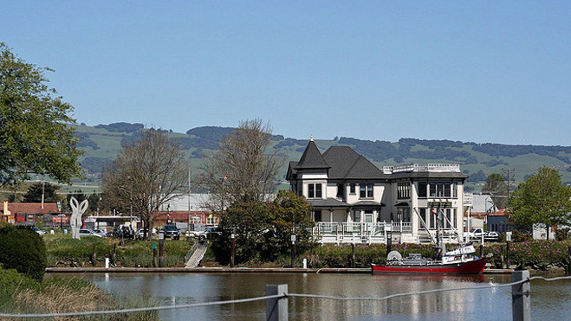 The California town of Petaluma.