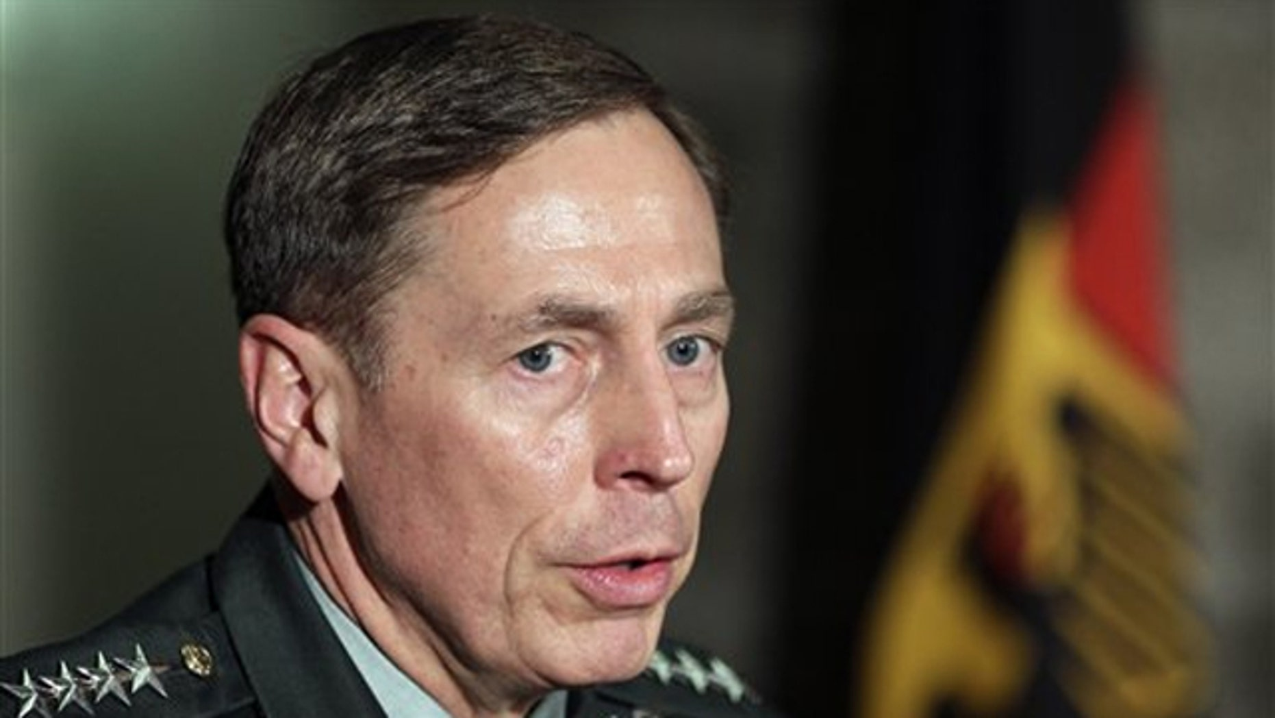 FILE: Gen. David Petraeus speaks on Nov. 23.