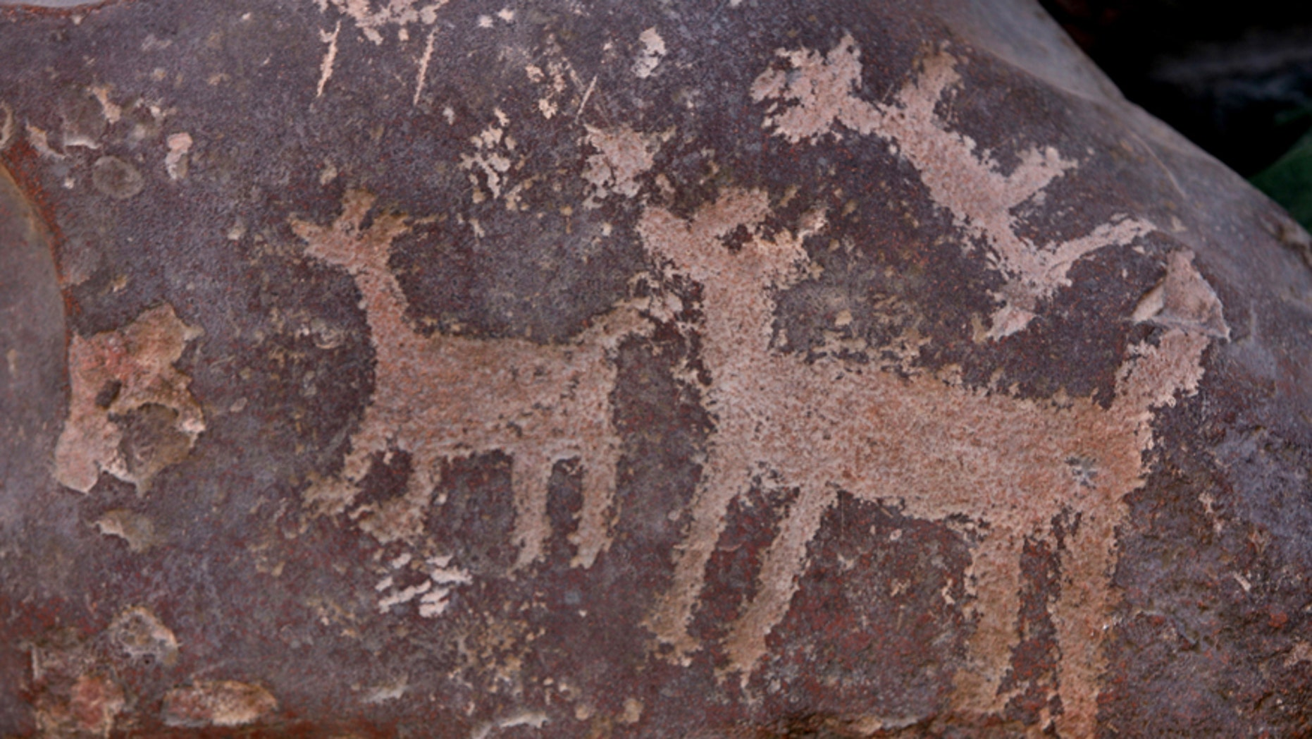 File photo. A petroglyph is seen in San Francisco de Miculla valley in Tacna, southern Peru, September 13, 2006.
