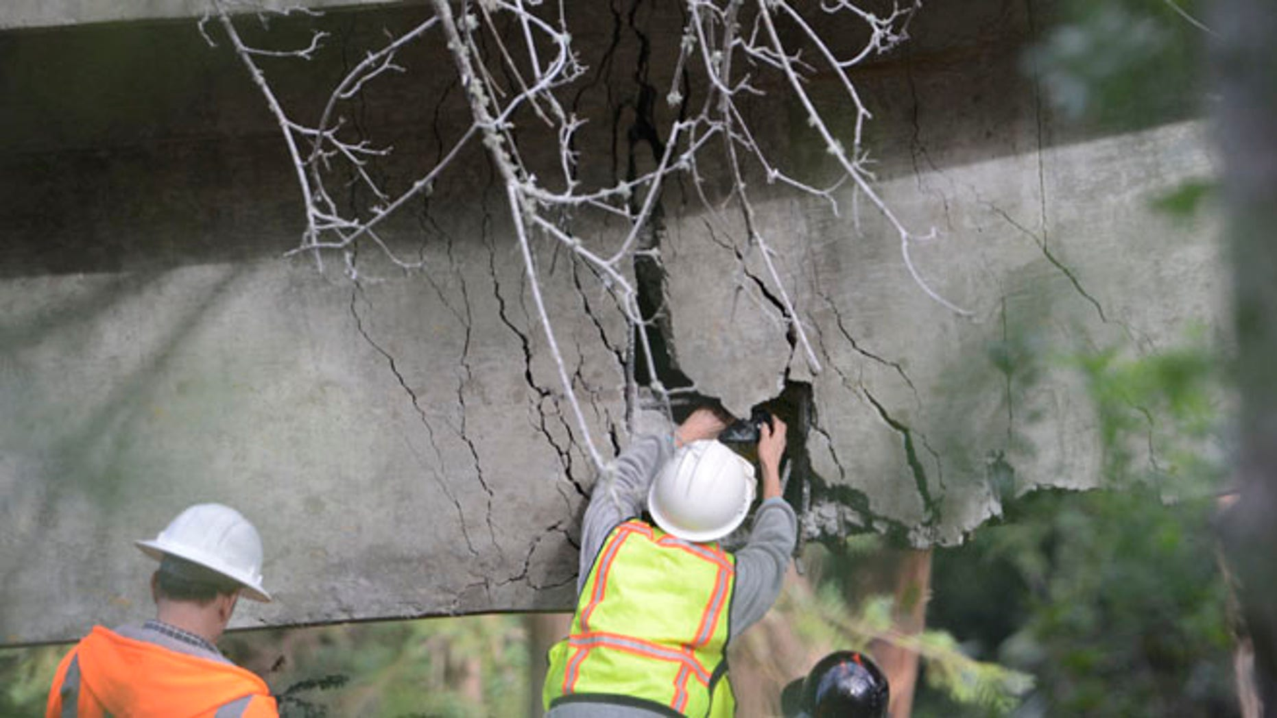 On the rain-soaked coast in Central California, the Pfeiffer Canyon Bridge has crumbled beyond repair, blocking passage on Highway 1 in Big Sur.