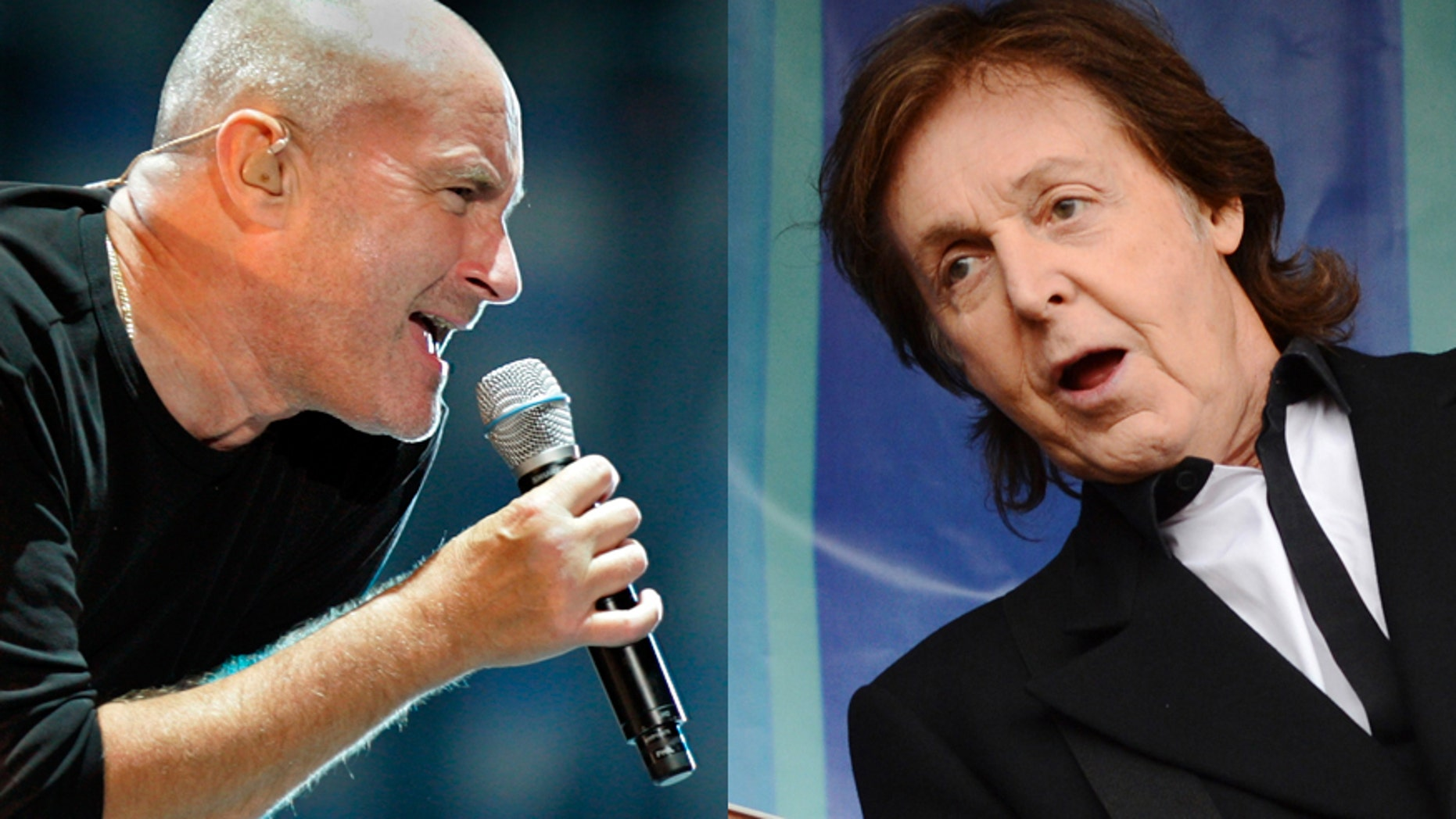Phil Collins (left) and Paul McCartney.