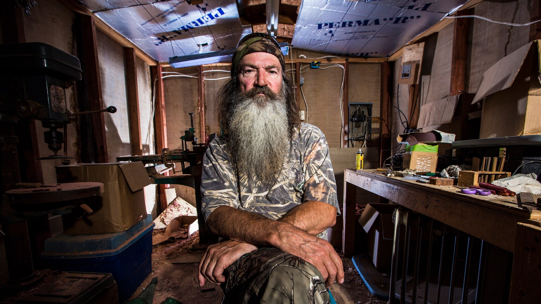 """Undated image of  Phil Robertson from the popular series """"Duck Dynasty."""" Robertson was suspended for disparaging comments he made to GQ magazine about gay people but was reinstated by the network on Friday, Dec. 27."""