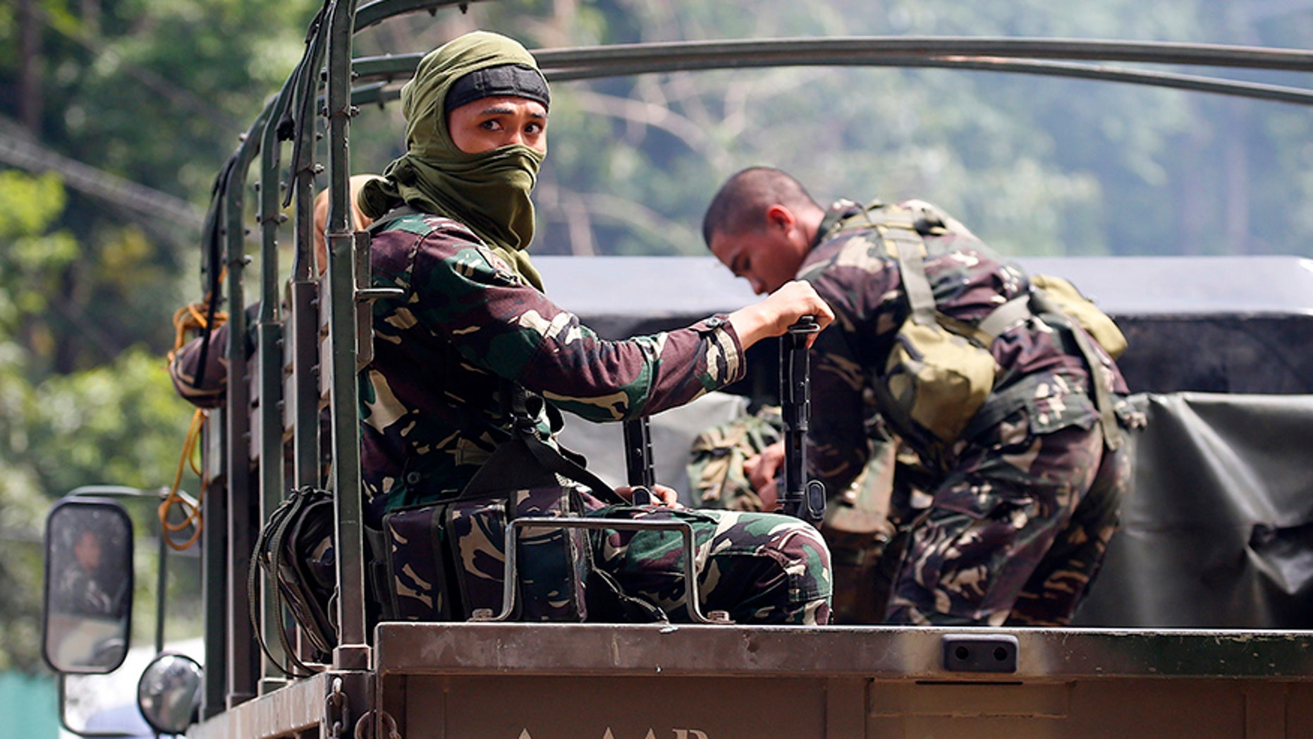 Government troops head for a continuing military operation against Muslim militants who lay siege in Marawi city.