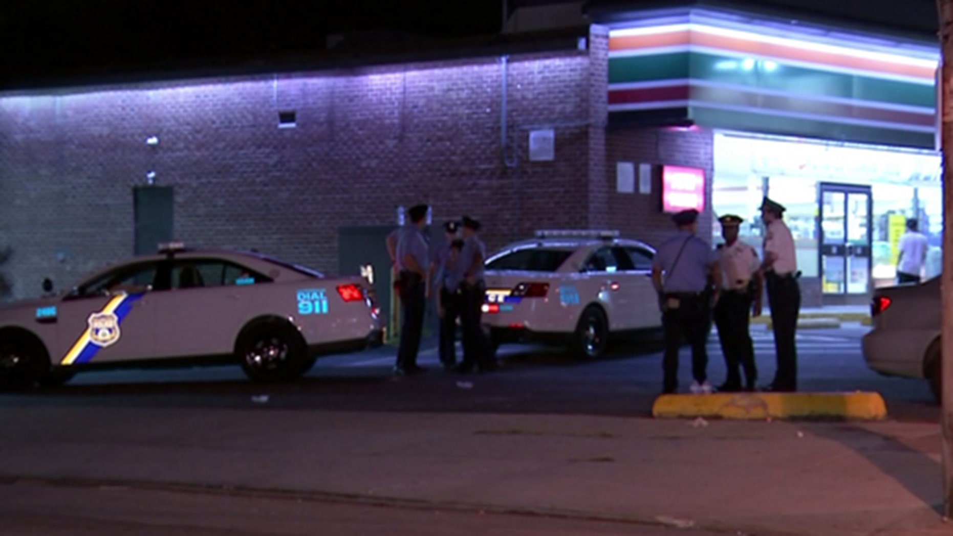 Philadelphia police say a 13-year-old boy walked home after he was shot in the foot late Sunday near convenience store in the northern part of the city.
