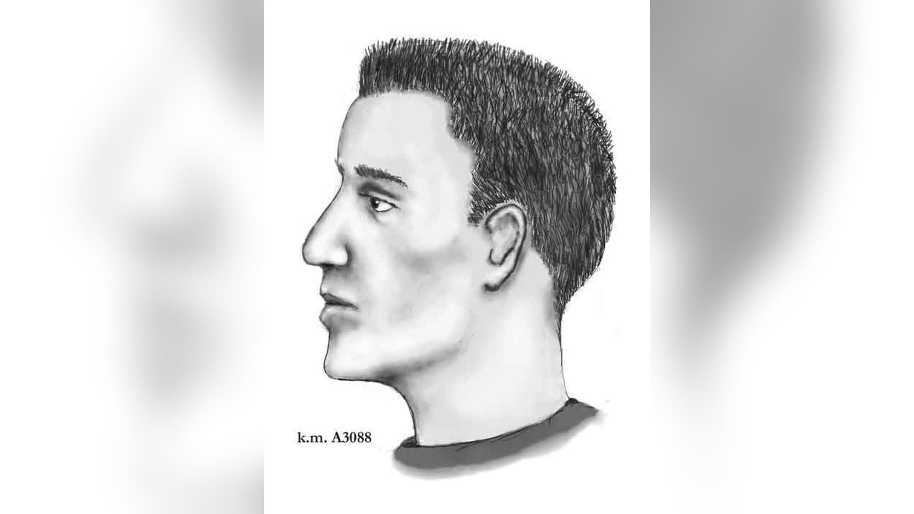A sketch of the suspect provided by the Phoenix PD.