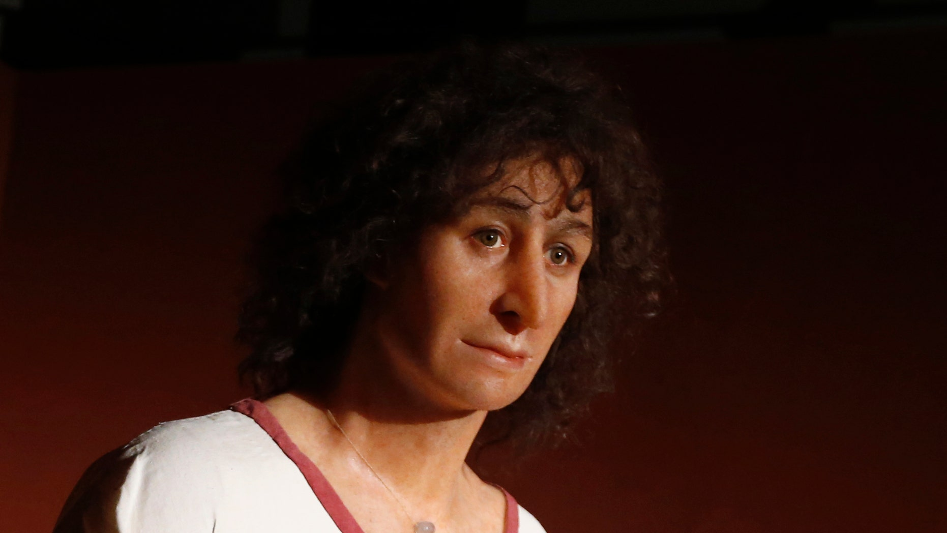 """A wax figure of """"The Young Phoenician Man of Carthage"""" is seen during the opening of a special exhibition at the American University of Beirut (AUB) Archaeological Museum in Beirut January 29, 2014. (REUTERS/Jamal Saidi)"""