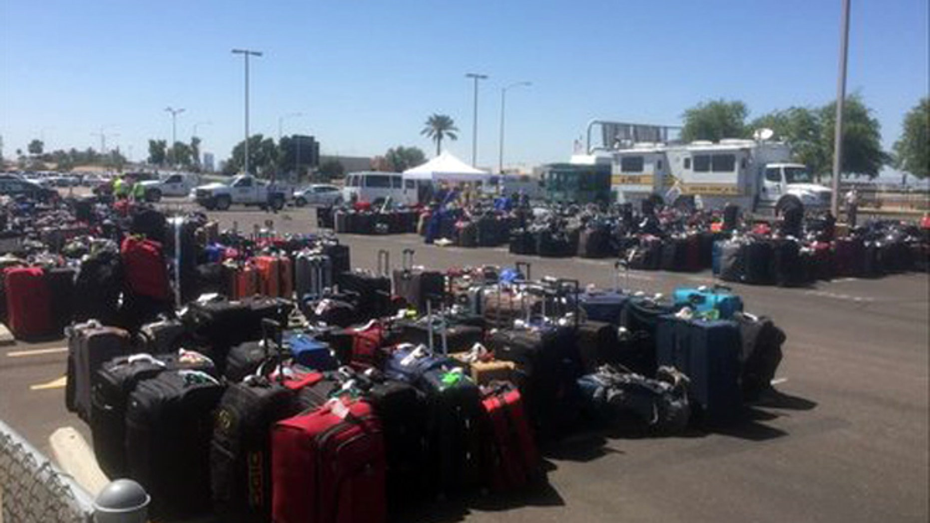 May 12, 2016: A bag-screening issue caused more than 3,000 bags checked bags to miss their outbound flights in Phoenix.