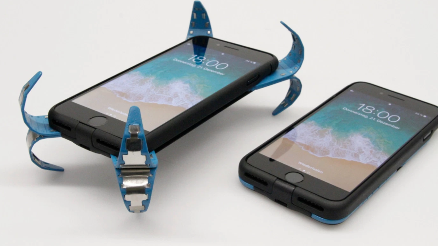 Philip Frenzel, 25, created a smartphone case that will protect phones when they drop.