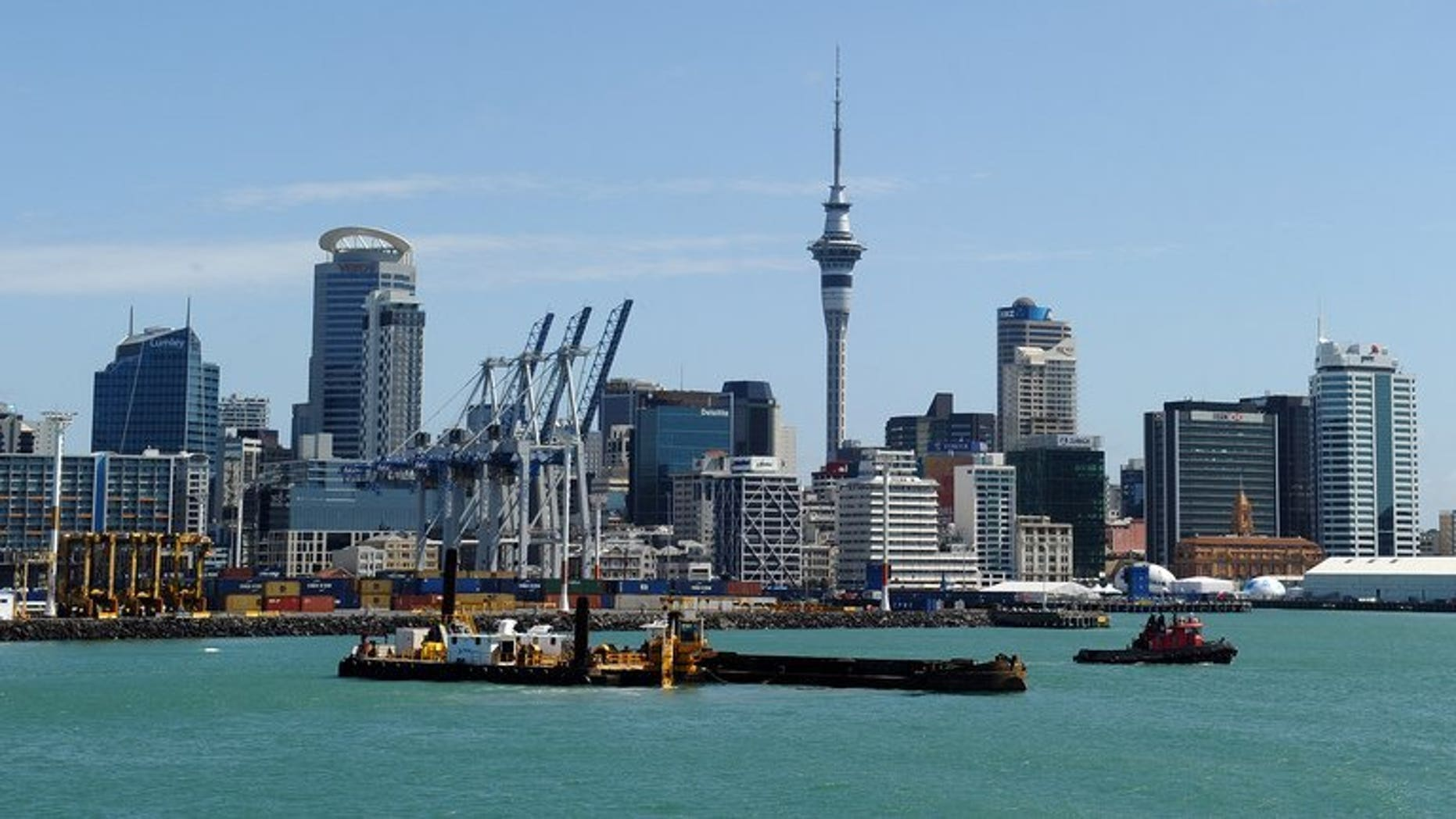 "Auckland's skyline and harbour, pictured in New Zealand, in 2011. A British man who miraculously survived a fall from a 15th-storey balcony in Auckland while drunkenly trying to break into his apartment has labelled himself an ""idiot""."