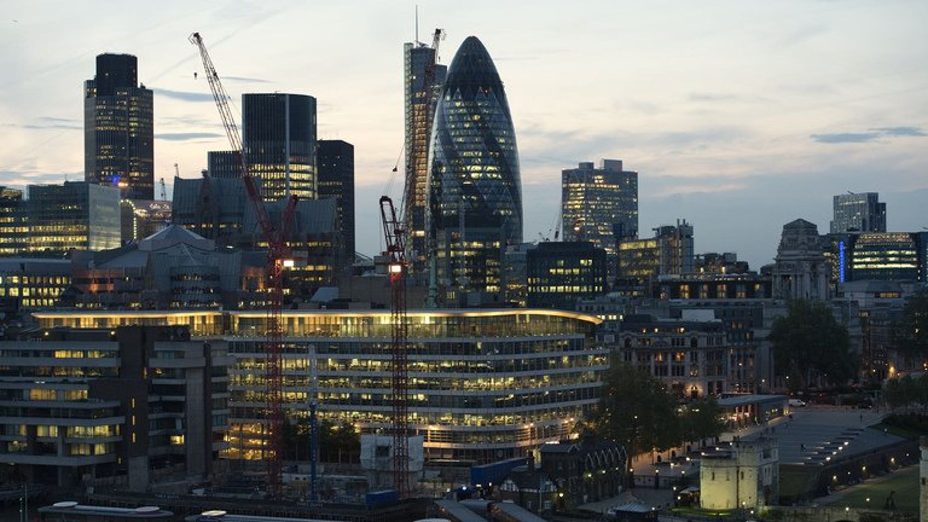 A view of the City of London on May 30, 2012. Britain's Serious Fraud Office said on Tuesday that former UBS trader Tom Hayes had become the first person to be charged in its probe into the Libor rate-rigging scandal that has rocked the banking sector.