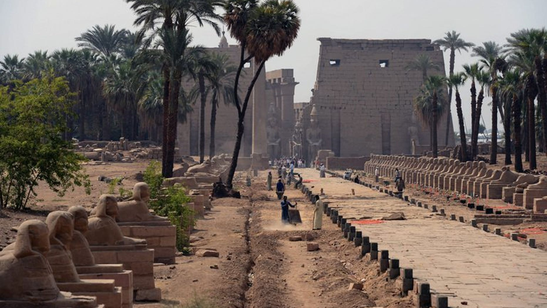 The ancient temple in Luxor, Egypt. Egypt's minister of tourism has resigned following the appointment of a new governor in the temple city of Luxor who belongs to an Islamist party linked to a deadly attack on tourists, state TV said Wednesday.