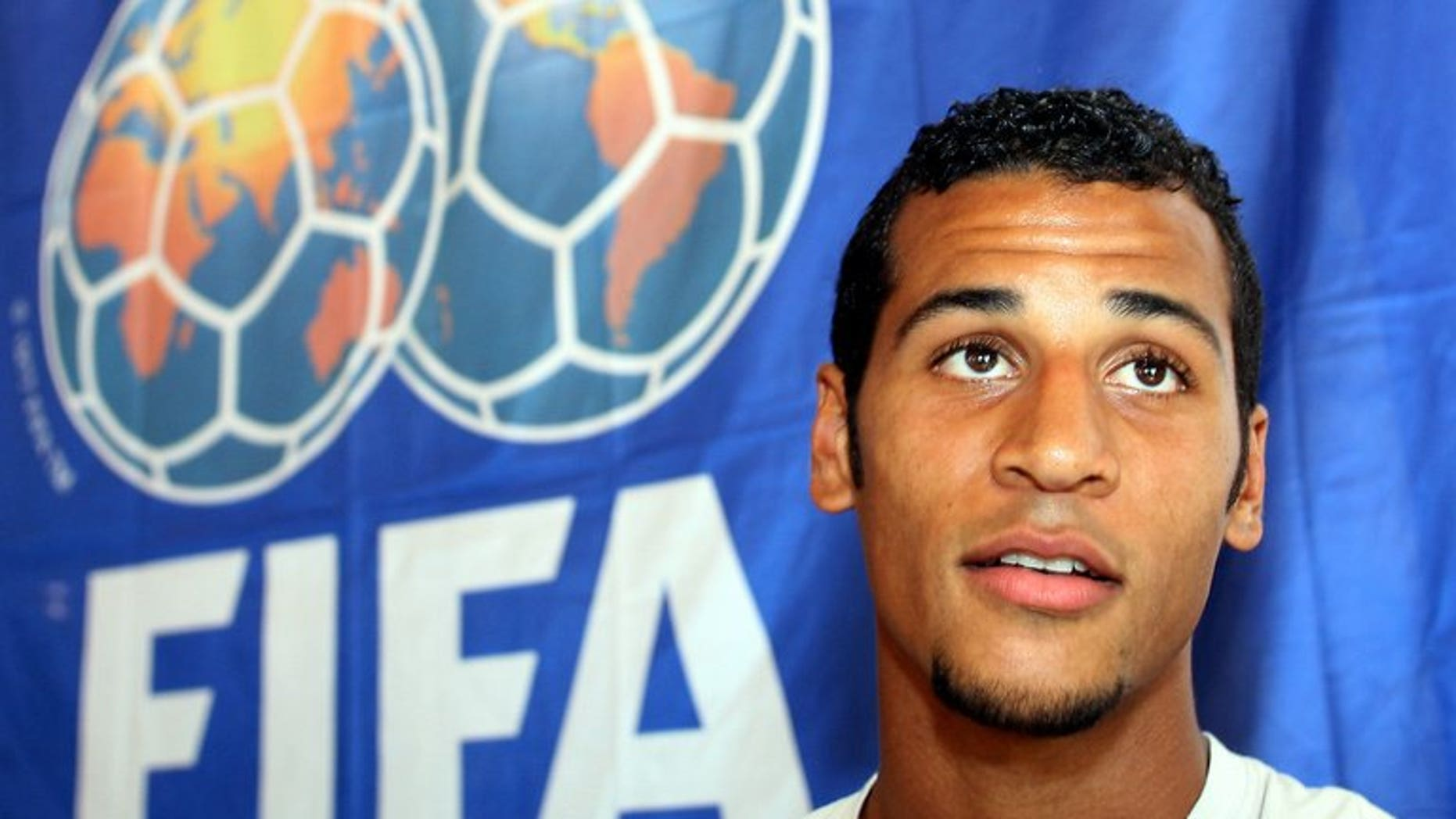 A picture taken on June 17, 2006 shows Togolese midfielder Alaixys Romao during a press conference at the media centre in Wagen Im Allg??u, Germany. Togo have joined Ethiopia in admitting that they fielded a suspended player in a 2014 World Cup Africa zone qualifier.