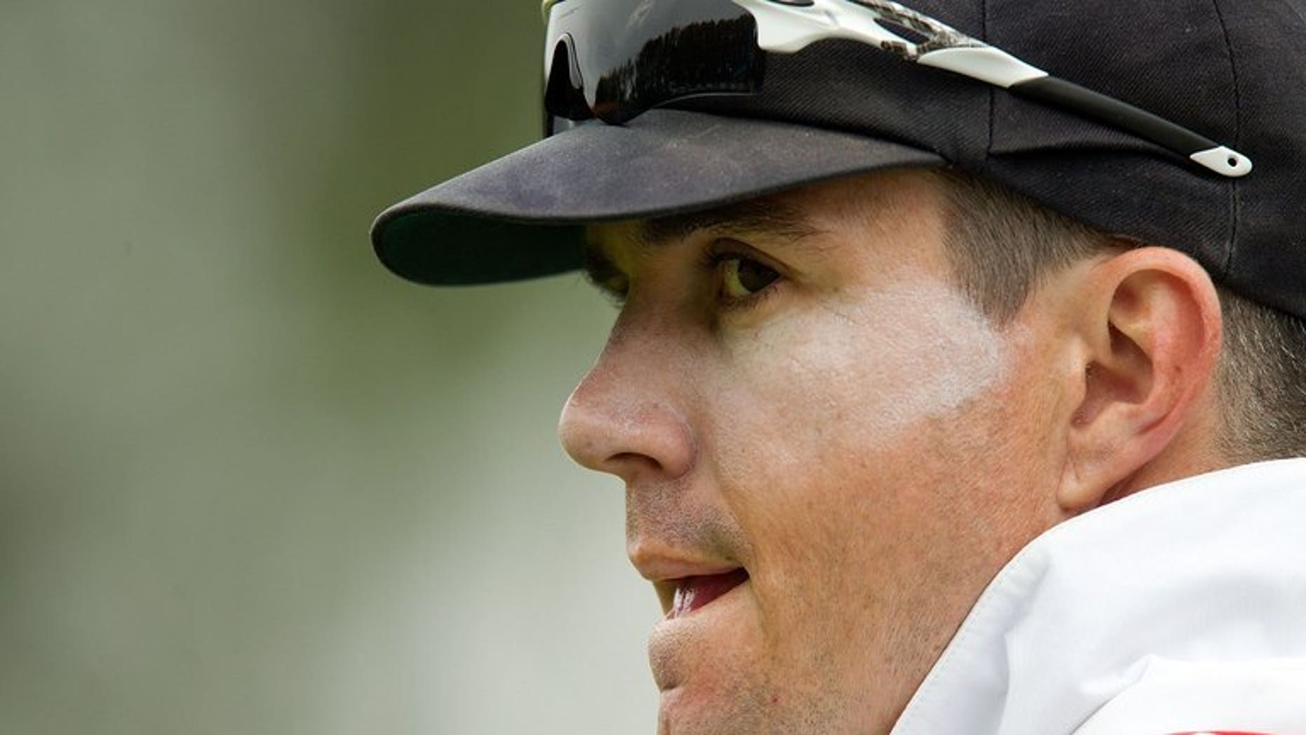 England's Kevin Pietersen fields at the University Oval park in Dunedin on March 8, 2013. Pietersen admitted Friday he'd made mistakes over the incident that saw him dropped by England on disciplinary grounds last season before he returned to the side.