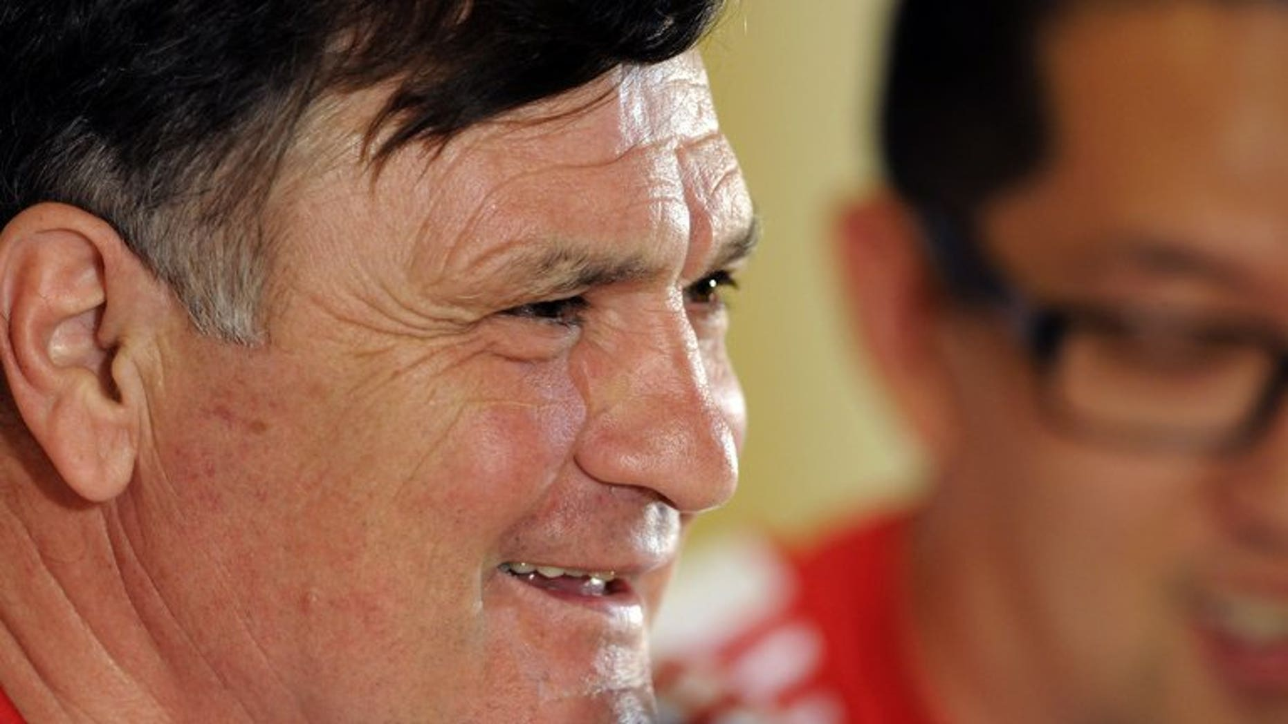 China's Spanish coach Jose Antonio Camacho gives a press conference in Sevilla on June 2, 2012. China's sports authorities are negotiating to end the contract of Camacho, state television said, after a humiliating defeat to Thailand.