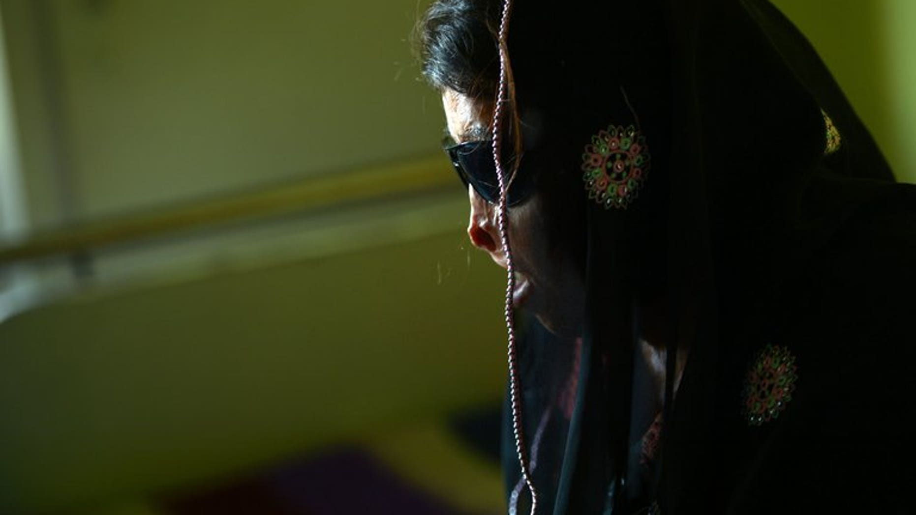 In this photo taken on February 12, 2013, an acid attack victim waits for eye surgery at a hospital in Rawalpindi. A young actress has suffered burn injuries in an acid attack in northwest Pakistan, her relatives and police told AFP.