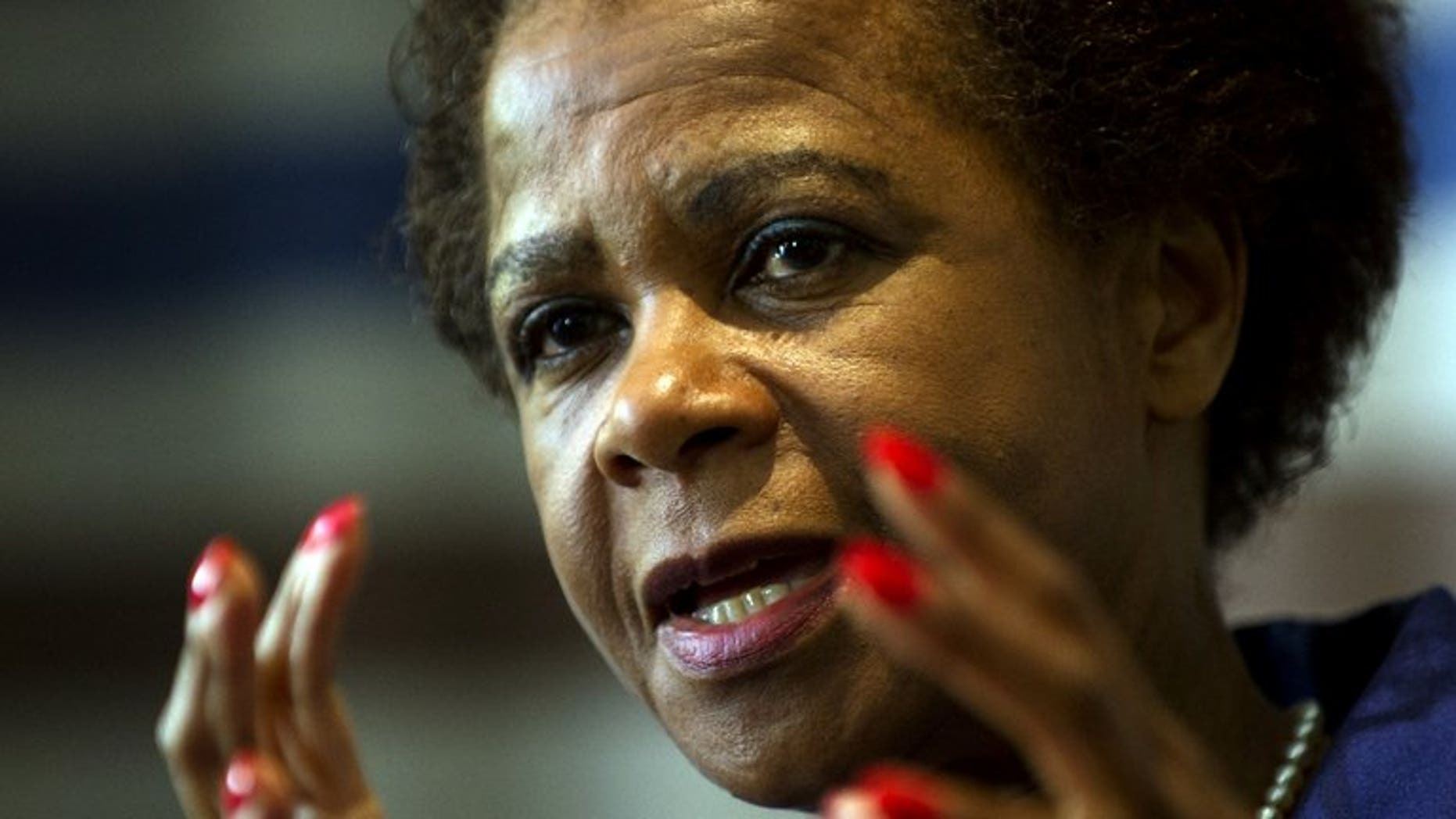 South African businesswoman and anti-apartheid activist Mamphela Ramphele speaks to the media in Johannesburg on June 6, 2013. Ramphele will launch a new opposition party to challenge the ruling ANC in elections next year.