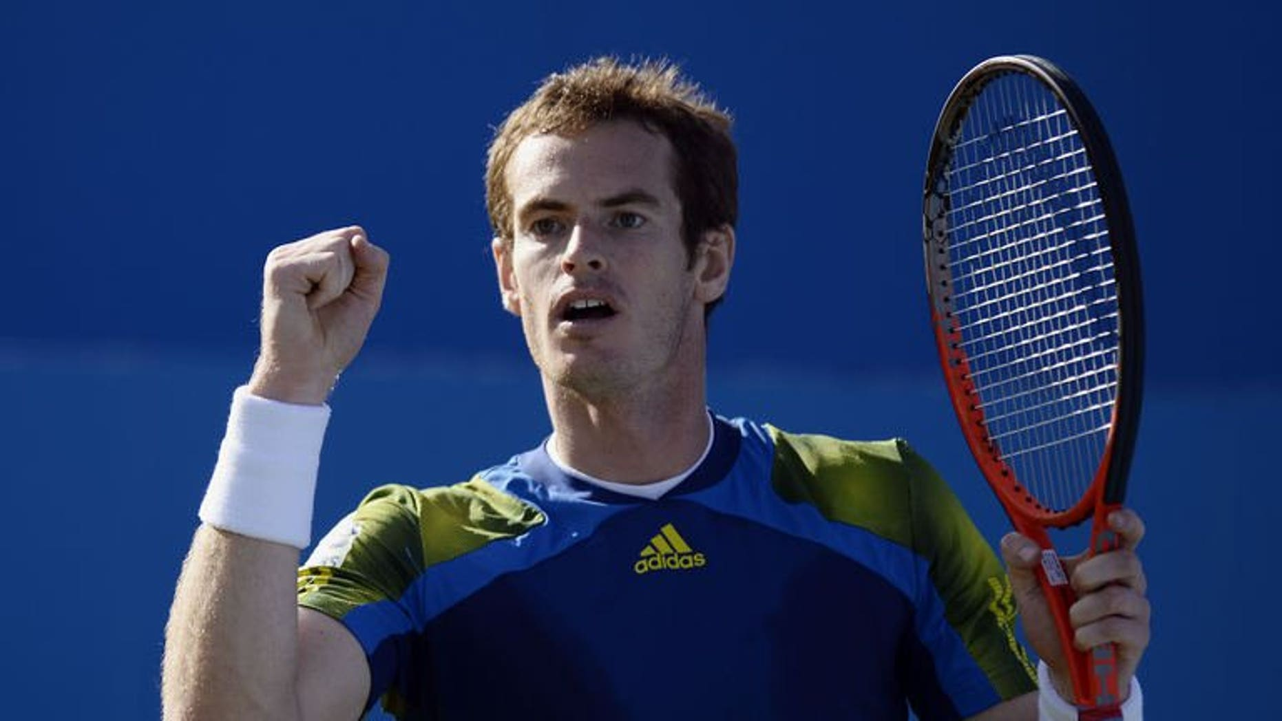 Britain's Andy Murray plays against Croatia's Marin Cilic during their ATP Aegon Championships match at the Queen's Club in London on June 16, 2013. John McEnroe believes that Murray is ideally placed over the next fortnight to win Wimbledon for the first time and end 77 years of British failure at the tournament.