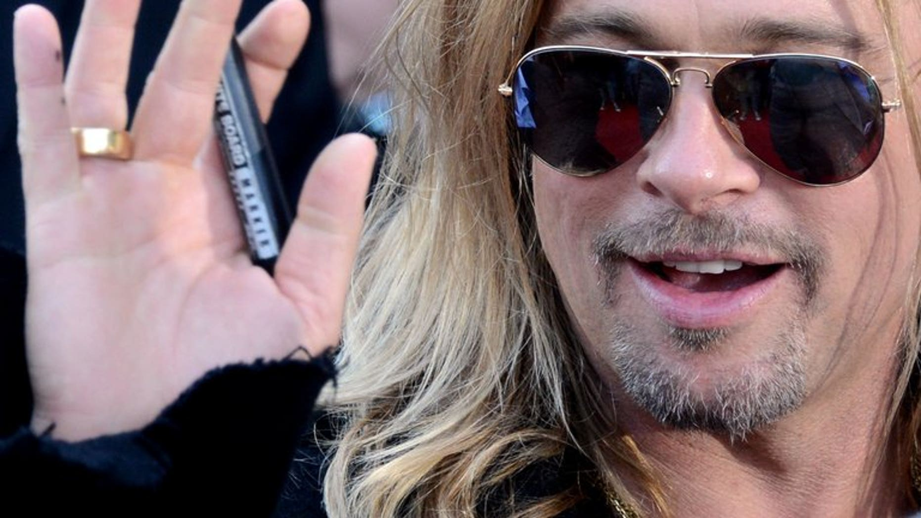 """US actor Brad Pitt attends the opening of the Moscow Film Festival on June 20, 2013. Pitt has scrapped a plan to visit Brazil to promote his new film """"World War Z,"""" the movie's distributors said, citing social unrest in the country."""