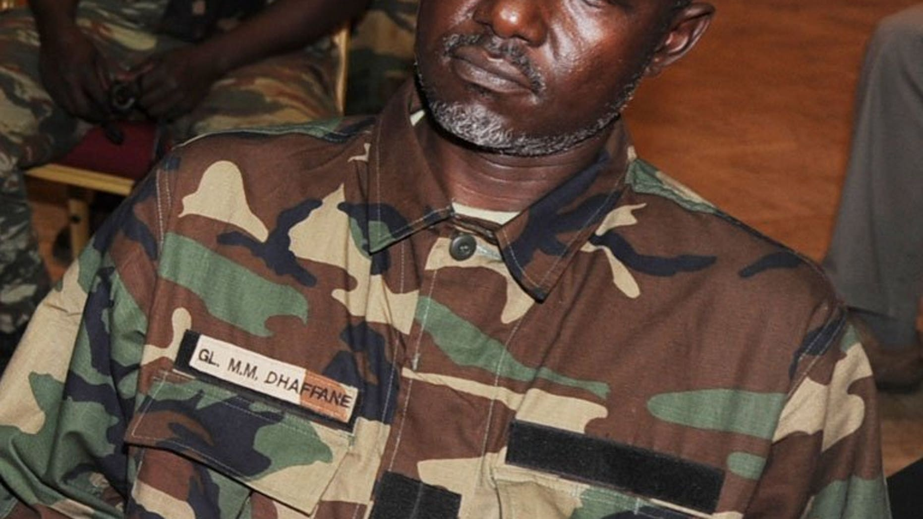 Water and forestry minister Mohamed Dhaffane, a Central African minister from the former rebel coalition that seized power, pictured in Liberville on January 9, 2013, was arrested and sacked on Sunday, as tensions mount in the troubled country.