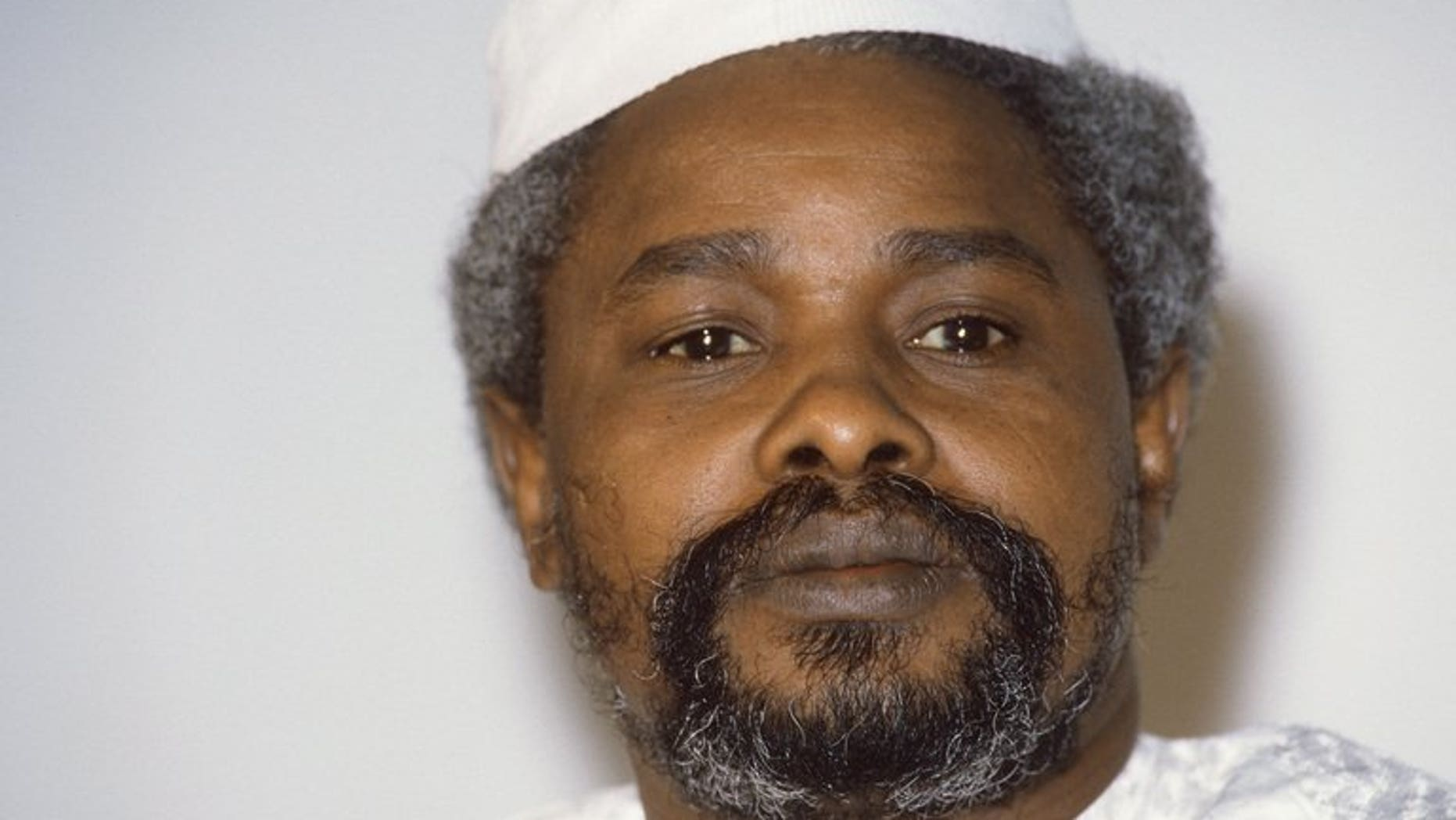 File picture shows Chad's then president Hissene Habre in N'Djamena on January 17, 1987. Chad's former dictator began his first full day in custody on Monday after his arrest in Senegal by investigators planning to put him on trial for crimes against humanity.
