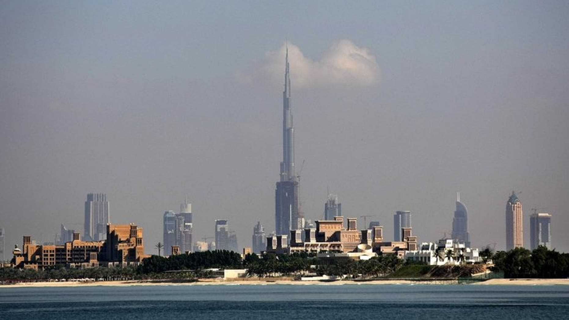 The skyline of Dubai in the United Arab Emirates in December 2009. A top United Arab Emirates court on Tuesday sentenced 64 Islamists to jail terms of up 15 years on charges of plotting to overthrow the government, while acquitting 25 others, Abu Dhabi television reported.